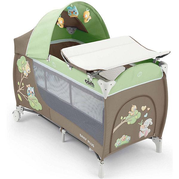 Манеж-кровать Daily Plus Совы, CAM, серый/салатовыйДетские кроватки<br>Манеж-кровать Daily Plus - прекрасный вариант для малышей. Модель имеет 2 колесика со стопорами, удобный боковой карман и лаз на молнии, для уже подросших детей. Стенки из сетчатого материала обеспечивают хорошую вентиляцию и обзор, антимоскитная сетка  защитит кроху от насекомых. Съемный пеленальный столик надежно крепится на кровати. Капюшон снабжен тремя игрушками. Манеж-кровать быстро и компактно складывается, колесики позволяют также перемещать модель в сложенном виде. В производстве изделия использованы только экологичные, безопасные для детей материалы. <br><br>Дополнительная информация:<br><br>- Материал: текстиль, металл, пластик.<br>- Размер в разложенном виде: 127х66х109 см.<br>- Размер сложенном виде: 75х18х18 см.<br>- Максимальный вес ребенка: 15 кг.<br>- Удобные колесики.<br>- Большой боковой карман и три подвесные игрушки лаз-дверка на молнии.<br>- Сетчатые бортики.<br>- Комплектация: съемный пеленальный столик, антимоскитная сетка, съемный капюшон с игрушками, <br>мягкий матрасик, сумка для перевозки, съемная люлька для сна.<br><br>Манеж-кровать Daily Plus Совы, CAM, серый/салатовый можно купить в нашем магазине.<br><br>Ширина мм: 240<br>Глубина мм: 290<br>Высота мм: 790<br>Вес г: 14100<br>Возраст от месяцев: 0<br>Возраст до месяцев: 36<br>Пол: Унисекс<br>Возраст: Детский<br>SKU: 4912284