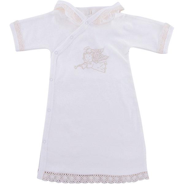 Крестильная рубашка с тесьмой, р-р 68, NewBorn, белыйПлатья<br>Характеристики:<br><br>• Вид детской одежды: рубашка<br>• Предназначение: для крещения<br>• Коллекция: NewBorn<br>• Сезон: круглый год<br>• Пол: для мальчика<br>• Тематика рисунка: ангелы<br>• Размер: 68<br>• Цвет: белый, золотистый<br>• Материал: трикотаж, хлопок<br>• Длина рукава: короткие<br>• Застежка: сзади на кнопке<br>• Декорирована широкой тесьмой золотистого цвета<br>• Передняя полочка украшена термонаклейкой в виде ангела и тесьмой<br>• Особенности ухода: допускается деликатная стирка без использования красящих и отбеливающих средств<br><br>Крестильная рубашка с тесьмой, р-р 68, NewBorn, белый из коллекции NewBorn от отечественного швейного производства ТексПром предназначено для создания праздничного образа мальчика во время торжественного обряда крещения. Рубашка представлена в коллекции NewBorn, которая сочетает в себе классические и современные тенденции в мире моды для новорожденных, при этом при технологии изготовления детской одежды сохраняются самые лучшие традиции: свободный крой, внешние швы и натуральные ткани. Рубашка с короткими рукавами и круглой горловиной, обработанной бейкой из трикотажа золотистого цвета. Застежка на кнопках предусмотрена на спинке, что обеспечивает ее легкое одевание. Праздничный образ создается за счет отделки рукавов, и передней полочки широким кружевом золотистого цвета и термонаклейки в виде ангела. <br><br>Крестильную рубашку с тесьмой, р-р 68, NewBorn, белый можно купить в нашем интернет-магазине.<br>Ширина мм: 220; Глубина мм: 5; Высота мм: 400; Вес г: 200; Возраст от месяцев: 3; Возраст до месяцев: 6; Пол: Унисекс; Возраст: Детский; SKU: 4912511;