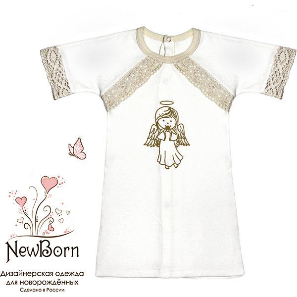 Крестильная рубашка с тесьмой, р-р 74, NewBorn, белыйПлатья<br>Характеристики:<br><br>• Вид детской одежды: рубашка<br>• Предназначение: для крещения<br>• Коллекция: NewBorn<br>• Сезон: круглый год<br>• Пол: для мальчика<br>• Тематика рисунка: ангелы<br>• Размер: 74<br>• Цвет: белый, золотистый<br>• Материал: трикотаж, хлопок<br>• Длина рукава: короткие<br>• Застежка: сзади на кнопке<br>• Декорирована широкой тесьмой золотистого цвета<br>• Передняя полочка украшена термонаклейкой в виде ангела и тесьмой<br>• Особенности ухода: допускается деликатная стирка без использования красящих и отбеливающих средств<br><br>Крестильная рубашка с тесьмой, р-р 74, NewBorn, белый из коллекции NewBorn от отечественного швейного производства ТексПром предназначено для создания праздничного образа мальчика во время торжественного обряда крещения. Рубашка представлена в коллекции NewBorn, которая сочетает в себе классические и современные тенденции в мире моды для новорожденных, при этом при технологии изготовления детской одежды сохраняются самые лучшие традиции: свободный крой, внешние швы и натуральные ткани. Рубашка с короткими рукавами и круглой горловиной, обработанной бейкой из трикотажа золотистого цвета. Застежка на кнопках предусмотрена на спинке, что обеспечивает ее легкое одевание. Праздничный образ создается за счет отделки рукавов, и передней полочки широким кружевом золотистого цвета и термонаклейки в виде ангела. <br><br>Крестильную рубашку с тесьмой, р-р 74, NewBorn, белый можно купить в нашем интернет-магазине.<br><br>Ширина мм: 220<br>Глубина мм: 5<br>Высота мм: 400<br>Вес г: 200<br>Возраст от месяцев: 6<br>Возраст до месяцев: 9<br>Пол: Унисекс<br>Возраст: Детский<br>SKU: 4912512
