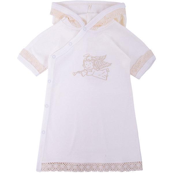 Крестильное платье с капюшоном, тесьма, р-р 62, NewBorn, белыйПлатья<br>Характеристики:<br><br>• Вид детской одежды: платье с капюшоном<br>• Предназначение: для крещения<br>• Коллекция: NewBorn<br>• Сезон: круглый год<br>• Пол: для девочки<br>• Тематика рисунка: ангелы<br>• Размер: 62<br>• Цвет: белый, золотистый<br>• Материал: трикотаж, хлопок<br>• Длина рукава: короткие<br>• Запах: спереди<br>• Застежка: спереди на кнопке<br>• Наличие капюшона<br>• Декорировано широкой тесьмой из шитья <br>• Передняя полочка украшена термонаклейкой в виде ангела<br>• Особенности ухода: допускается деликатная стирка без использования красящих и отбеливающих средств<br><br>Крестильное платье с капюшоном, тесьма, р-р 62, NewBorn, белый из коллекции NewBorn от отечественного швейного производства ТексПром предназначено для создания праздничного образа девочки во время торжественного обряда крещения. Платье представлено в коллекции NewBorn, которая сочетает в себе классические и современные тенденции в мире моды для новорожденных, при этом при технологии изготовления детской одежды сохраняются самые лучшие традиции: свободный крой, внешние швы и натуральные ткани. Платье с короткими рукавами и капюшоном выполнено из трикотажа, все края обработаны трикотажной бейкой золотистого цвета. Изделие имеет передний запах с застежками на кнопках, что обеспечивает его легкое одевание. Праздничный образ создается за счет отделки рукавов, капюшона и низа платья широким кружевом золотистого цвета и термонаклейки на передней полочке в виде ангела. <br><br>Крестильное платье с капюшоном, тесьма, р-р 62, NewBorn, белый можно купить в нашем интернет-магазине.<br><br>Ширина мм: 220<br>Глубина мм: 5<br>Высота мм: 400<br>Вес г: 200<br>Возраст от месяцев: 0<br>Возраст до месяцев: 3<br>Пол: Женский<br>Возраст: Детский<br>SKU: 4912515