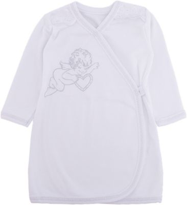 Крестильная Рубашка С Шитьем, Р-Р 62, Newborn, Белый