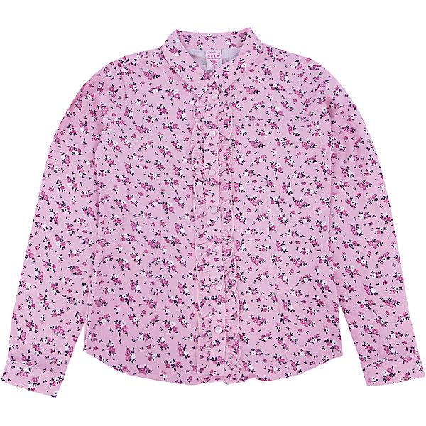 Блузка для девочки SELAБлузки и рубашки<br>Одежда для детей от SELA - это качество и отличные цены. Блузка для девочки из новой коллекции придется по душе любому ребенку. Качественный натуральный материал сочетается с последними модными трендами. Стильный орнамент в нежный цветок делает блузку оригинальной и заметной даже без добавления аксессуаров. <br>Блузка отлично сидит по фигуре благодаря полуприлегающему крою. Универсальность модели позволит создать множество образов.  Все материалы, использованные в создании изделия,  отвечают современным требованиям по качеству и безопасности продукции. <br><br>Дополнительная информация:<br><br>цвет: розовый;<br>состав: 100% вискоза;<br>рукав длинный, с манжетом, силуэт полуприлегающий.<br><br>Блузку для девочки от компании SELA можно купить в нашем магазине.<br><br>Ширина мм: 186<br>Глубина мм: 87<br>Высота мм: 198<br>Вес г: 197<br>Цвет: розовый<br>Возраст от месяцев: 96<br>Возраст до месяцев: 108<br>Пол: Женский<br>Возраст: Детский<br>Размер: 128,134,146,116,140,122,152<br>SKU: 4912901