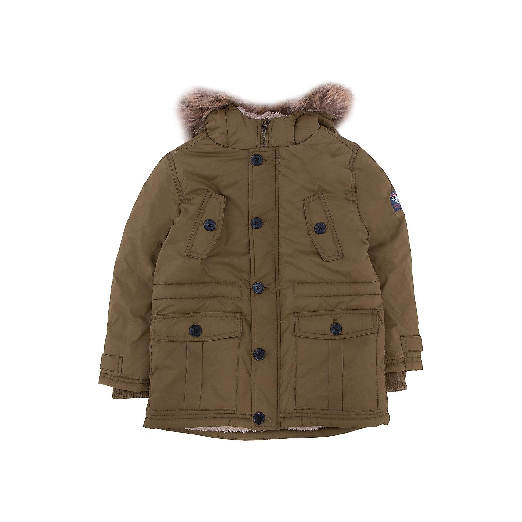 Куртка для мальчика SELAВерхняя одежда<br>Верхняя одежда от SELA - это качество и отличные цены. Куртка для мальчика из новой коллекции подготовит гардероб ребенка к осенним холодам. Цветовое решение куртки не оставит равнодушным никого.  Модель не только стильная, но и функциональная.  У куртки две пары карманов и резинка на рукавах, которая защитит руки от ветра.<br>Все материалы, использованные в создании изделия,  отвечают современным требованиям по качеству и безопасности продукции. <br><br>Дополнительная информация:<br><br>цвет: хаки;<br>состав: подкладка - 100% нейлон, подкладка (рукава) - 100% ПЭ, утеплитель - 100% ПЭ, мех -  100% ПЭ;<br>длина до середины бедра;<br>силуэт прямой;<br>капюшон притачной.<br><br>Куртку для мальчика от компании SELA можно купить в нашем магазине.<br><br>Ширина мм: 356<br>Глубина мм: 10<br>Высота мм: 245<br>Вес г: 519<br>Цвет: коричневый<br>Возраст от месяцев: 24<br>Возраст до месяцев: 36<br>Пол: Мужской<br>Возраст: Детский<br>Размер: 98,116,104,110<br>SKU: 4912979