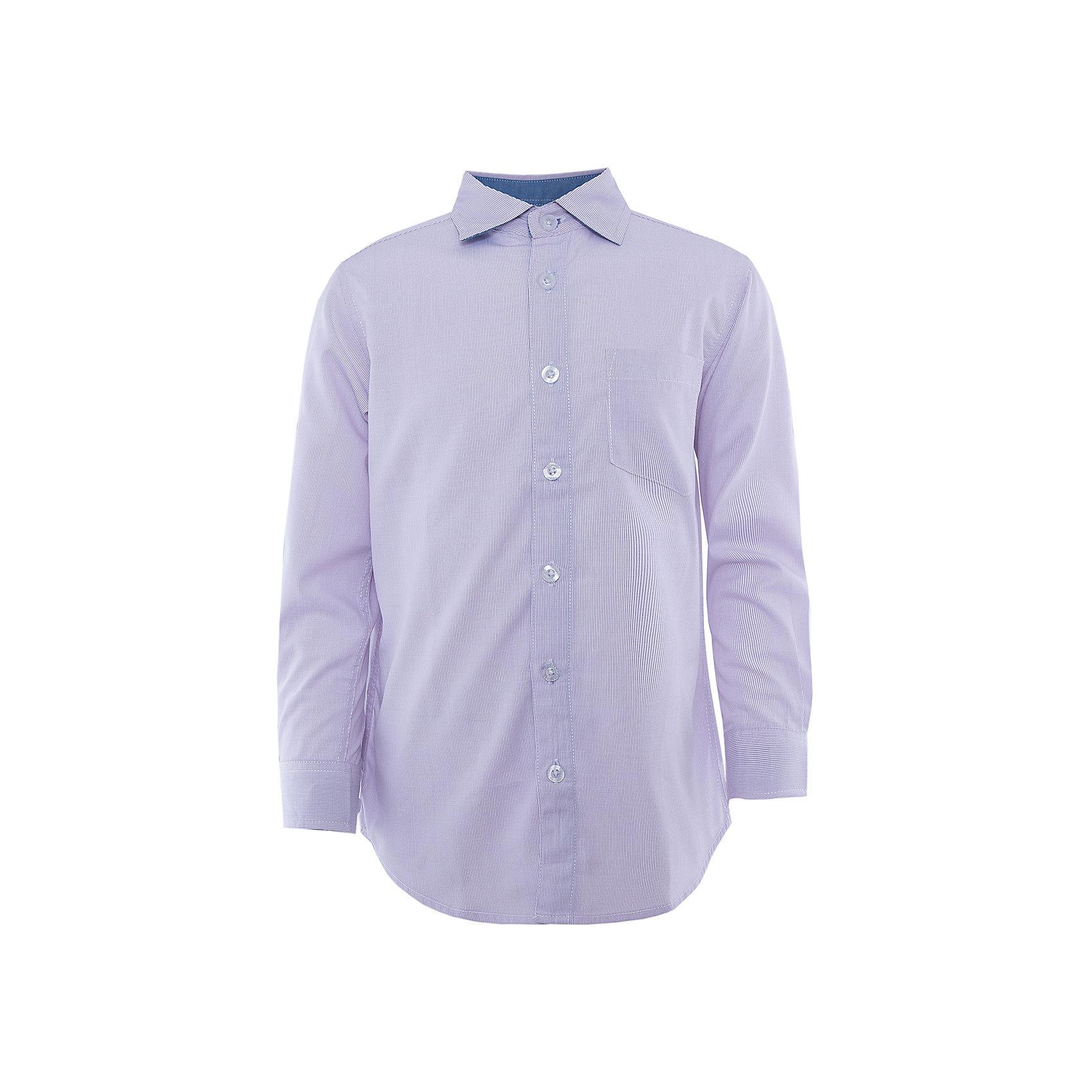 Рубашка для мальчика SELAДетская одежда от SELA - это качество и отличные цены. Рубашка для мальчика из новой коллекции – прекрасно подойдет для обновления гардероба к новому учебному году. Строгость и стиль – главные достоинства модели.<br>На рукавах у рубашки есть модные декоративные элементы синего цвета, привлекающие внимание. Модель не имеет рисунка, но едва заметный орнамент делает изделие оригинальным. Нежный цвет позволит комбинировать рубашку с любимыми вещами. Все материалы, использованные в создании изделия,  отвечают современным требованиям по качеству и безопасности продукции. <br><br>Дополнительная информация:<br><br>цвет: лаванда;<br>состав: 65% хлопок, 35% ПЭ;<br>рукав длинный;<br>силуэт прямой.<br><br>Рубашку для мальчика от компании SELA можно купить в нашем магазине.<br><br>Ширина мм: 174<br>Глубина мм: 10<br>Высота мм: 169<br>Вес г: 157<br>Цвет: голубой<br>Возраст от месяцев: 96<br>Возраст до месяцев: 108<br>Пол: Мужской<br>Возраст: Детский<br>Размер: 146,128,152,134,122,170,164,140,158,116<br>SKU: 4913046