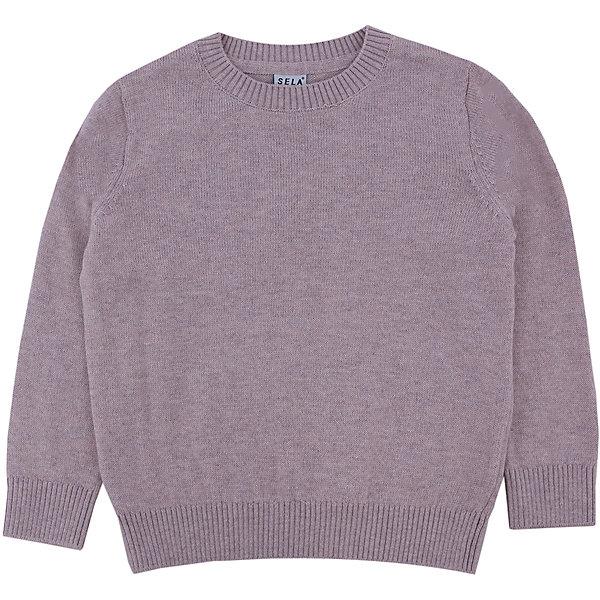 Джемпер для мальчика SELAСвитера и кардиганы<br>Детская одежда от SELA - это качество и отличные цены. Джемпер для мальчика из новой коллекции – необходимая вещь, чтобы выглядеть стильно в новом сезоне. Модель выполнена в классическом базовом стиле, что позволят комбинировать джемпер с любыми вещами и для любого случая. В изделии использована шерсть, которая делает модель не только модной, но и теплой. У джемпера на горле и рукавах есть уплотненные резинки.<br>Все материалы, использованные в создании изделия,  отвечают современным стандартам по качеству и безопасности продукции.<br>Дополнительная информация:<br>цвет: бежевый;<br>состав:  60% хлопок, 10% шерсть, 30% нейлон;<br>Длинный рукав<br>Силуэт прямой<br>Джемпер для мальчика от компании SELA можно приобрести в нашем магазине.<br>Ширина мм: 190; Глубина мм: 74; Высота мм: 229; Вес г: 236; Цвет: бежевый; Возраст от месяцев: 24; Возраст до месяцев: 36; Пол: Мужской; Возраст: Детский; Размер: 98,110,92,104,116; SKU: 4913126;