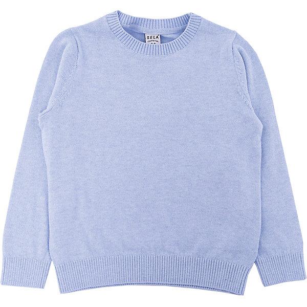 Джемпер для мальчика SELAСвитера и кардиганы<br>Детская одежда от SELA - это качество и отличные цены. Джемпер для мальчика из новой коллекции – необходимая вещь, чтобы выглядеть стильно в новом сезоне. Модель выполнена в классическом базовом стиле, что позволят комбинировать джемпер с любыми вещами и для любого случая. В изделии использована шерсть, которая делает модель не только модной, но и теплой. У джемпера на горле и рукавах есть уплотненные резинки.<br>Все материалы, использованные в создании изделия,  отвечают современным стандартам по качеству и безопасности продукции.<br><br>Дополнительная информация:<br><br>цвет: светло-голубой;<br>состав:  60% хлопок, 10% шерсть, 30% нейлон;<br>длинный рукав;<br>силуэт прямой.<br><br>Джемпер для мальчика от компании SELA можно приобрести в нашем магазине.<br><br>Ширина мм: 190<br>Глубина мм: 74<br>Высота мм: 229<br>Вес г: 236<br>Цвет: голубой<br>Возраст от месяцев: 48<br>Возраст до месяцев: 60<br>Пол: Мужской<br>Возраст: Детский<br>Размер: 110,116,104,98,92<br>SKU: 4913132