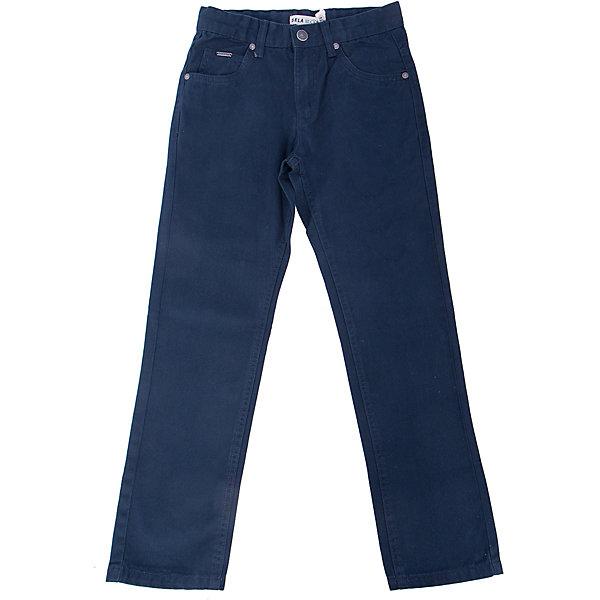 Брюки для мальчика SELAБрюки<br>Брюки для мальчика из коллекции осень-зима 2016-2017 от известного бренда SELA. Стильные брюки на каждый день приятного темно-синего цвета сделаны из хлопка. Брюки на молнии, имеют классические 5 карманов, прекрасно подойдут как к рубашкам, так и к футболкам.<br><br>Дополнительная информация:<br>- Силуэт прямой <br><br>Состав: 100% хлопок <br><br>Брюки для мальчиков Sela можно купить в нашем интернет-магазине.<br>.<br>Подробнее:<br>• Для детей в возрасте: от 6 до 12 лет<br>• Номер товара: 4913220<br>Страна производитель: Бангладеш<br><br>Ширина мм: 215<br>Глубина мм: 88<br>Высота мм: 191<br>Вес г: 336<br>Цвет: синий<br>Возраст от месяцев: 132<br>Возраст до месяцев: 144<br>Пол: Мужской<br>Возраст: Детский<br>Размер: 152,140,146,122,134,128,116<br>SKU: 4913219