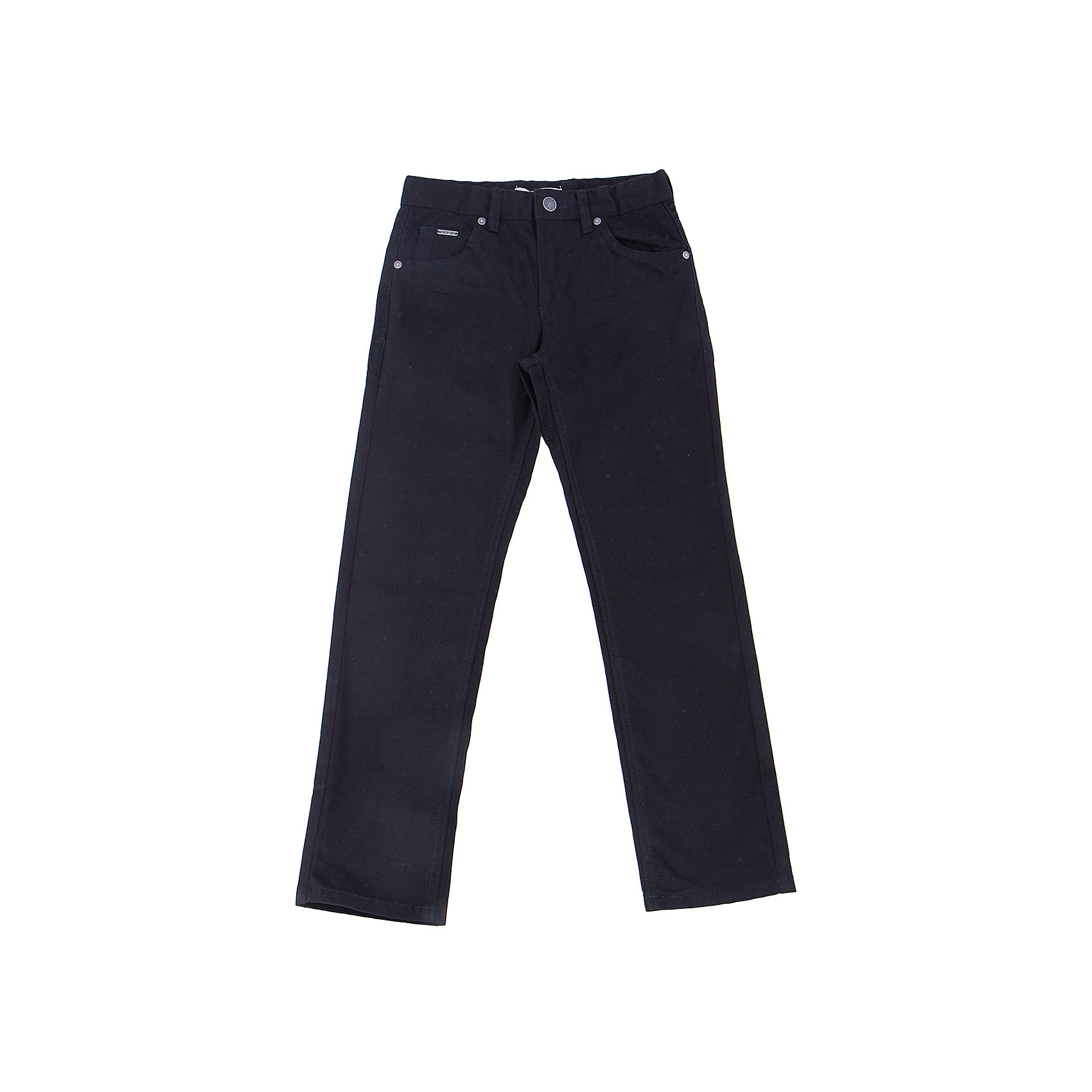 Брюки для мальчика SELAБрюки<br>Брюки для мальчика из коллекции осень-зима 2016-2017 от известного бренда SELA. Стильные брюки на каждый день приятного черного цвета сделаны из хлопка. Брюки на молнии, имеют классические 5 карманов, прекрасно подойдут как к рубашкам, так и к футболкам.<br><br>Дополнительная информация:<br>- Силуэт прямой <br><br>Состав: 100% хлопок <br><br>Брюки для мальчиков Sela можно купить в нашем интернет-магазине.<br>.<br>Подробнее:<br>• Для детей в возрасте: от 6 до 12 лет<br>• Номер товара: 4913228<br>Страна производитель: Бангладеш<br><br>Ширина мм: 215<br>Глубина мм: 88<br>Высота мм: 191<br>Вес г: 336<br>Цвет: черный<br>Возраст от месяцев: 132<br>Возраст до месяцев: 144<br>Пол: Мужской<br>Возраст: Детский<br>Размер: 152,134,116,128,146,140,122<br>SKU: 4913227