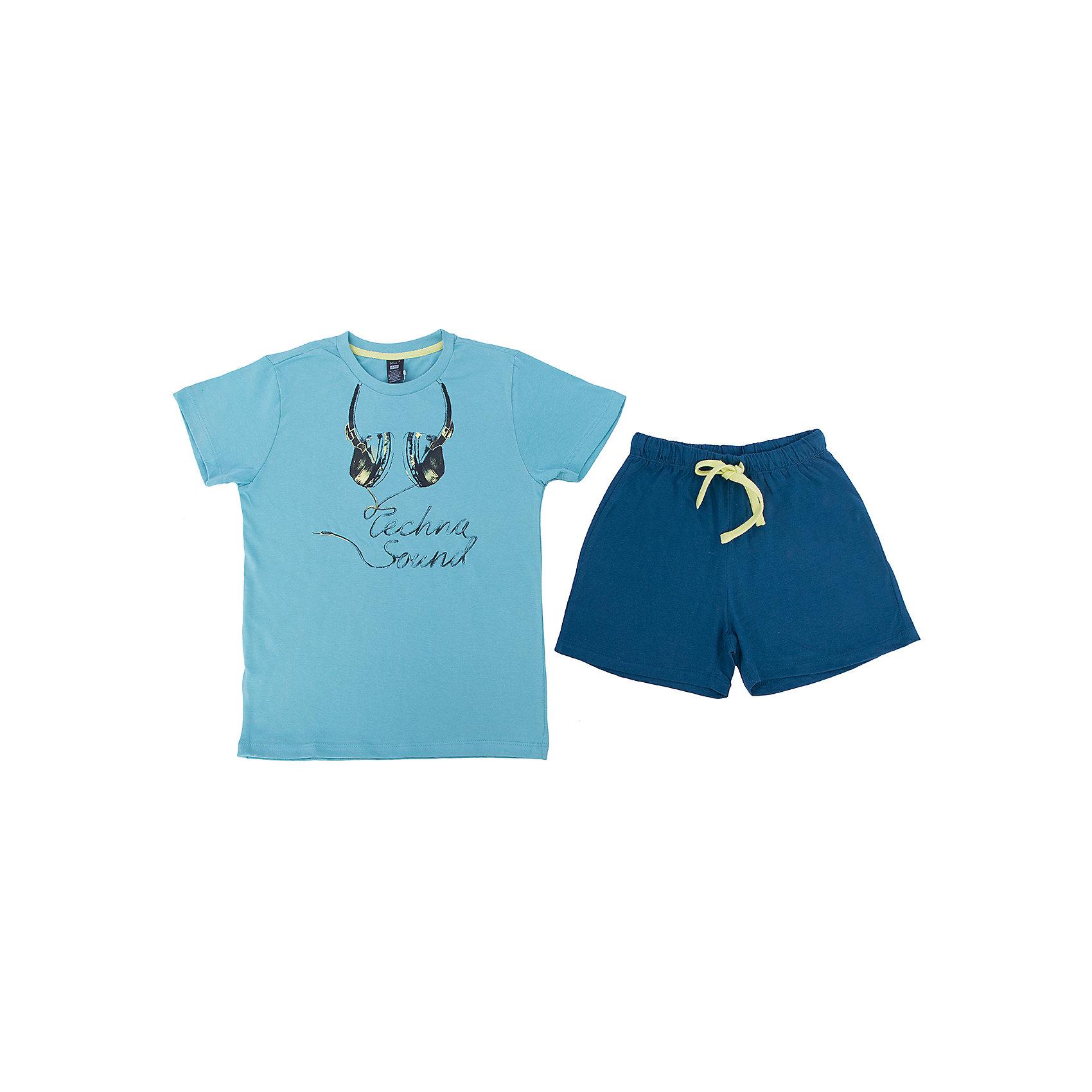 Пижама для мальчика SELAПижама для мальчика из коллекции осень-зима 2016-2017 от известного бренда SELA. Стильная бирюзово-синяя хлопковая пижама позволяет коже дышать и чувствовать себя в ней настоящей звездой. В комплект входят темно-синие шорты и бирюзовая футболка. На шортах имеется практичный желтый шнурок, позволяющий контролировать эластичную резинку.<br> <br>Дополнительная информация:<br>- в комплект входят: шорты и футболка <br><br>Состав: 93% хлопок 7% ПЭ <br><br>Пижаму для мальчиков Sela можно купить в нашем интернет-магазине.<br>.<br>Подробнее:<br>• Для детей в возрасте: от 6 до 12 лет<br>• Номер товара: 4913303<br>Страна производитель: Индия<br><br>Ширина мм: 281<br>Глубина мм: 70<br>Высота мм: 188<br>Вес г: 295<br>Цвет: голубой<br>Возраст от месяцев: 96<br>Возраст до месяцев: 108<br>Пол: Мужской<br>Возраст: Детский<br>Размер: 128/134,104/110,116/122,92/98<br>SKU: 4913302