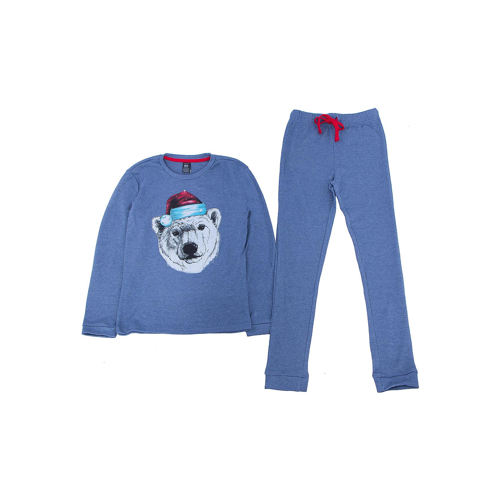 Пижама для мальчика SELAПижама для мальчика из коллекции осень-зима 2016-2017 от известного бренда SELA. Стильная светло-синяя пижама с длинным рукавом и длинными штанами. В комплект входят кофта с резинками на манжетах и штаны в тон, также с резинками на манжетах. На штанах имеется практичный красный шнурок, позволяющий контролировать эластичную резинку. Яркий принт с белым медведем наполняет мыслями о Новогодних праздниках и зимнем веселье.<br> <br>Дополнительная информация:<br>- в комплект входят: кофта и штаны <br><br>Состав: 35% хлопок 65% ПЭ <br><br>Пижаму для мальчиков Sela можно купить в нашем интернет-магазине.<br>.<br>Подробнее:<br>• Для детей в возрасте: от 6 до 12 лет<br>• Номер товара: 4913308<br>Страна производитель: Индия<br><br>Ширина мм: 281<br>Глубина мм: 70<br>Высота мм: 188<br>Вес г: 295<br>Цвет: синий<br>Возраст от месяцев: 96<br>Возраст до месяцев: 108<br>Пол: Мужской<br>Возраст: Детский<br>Размер: 128/134,92/98,104/110,116/122<br>SKU: 4913307
