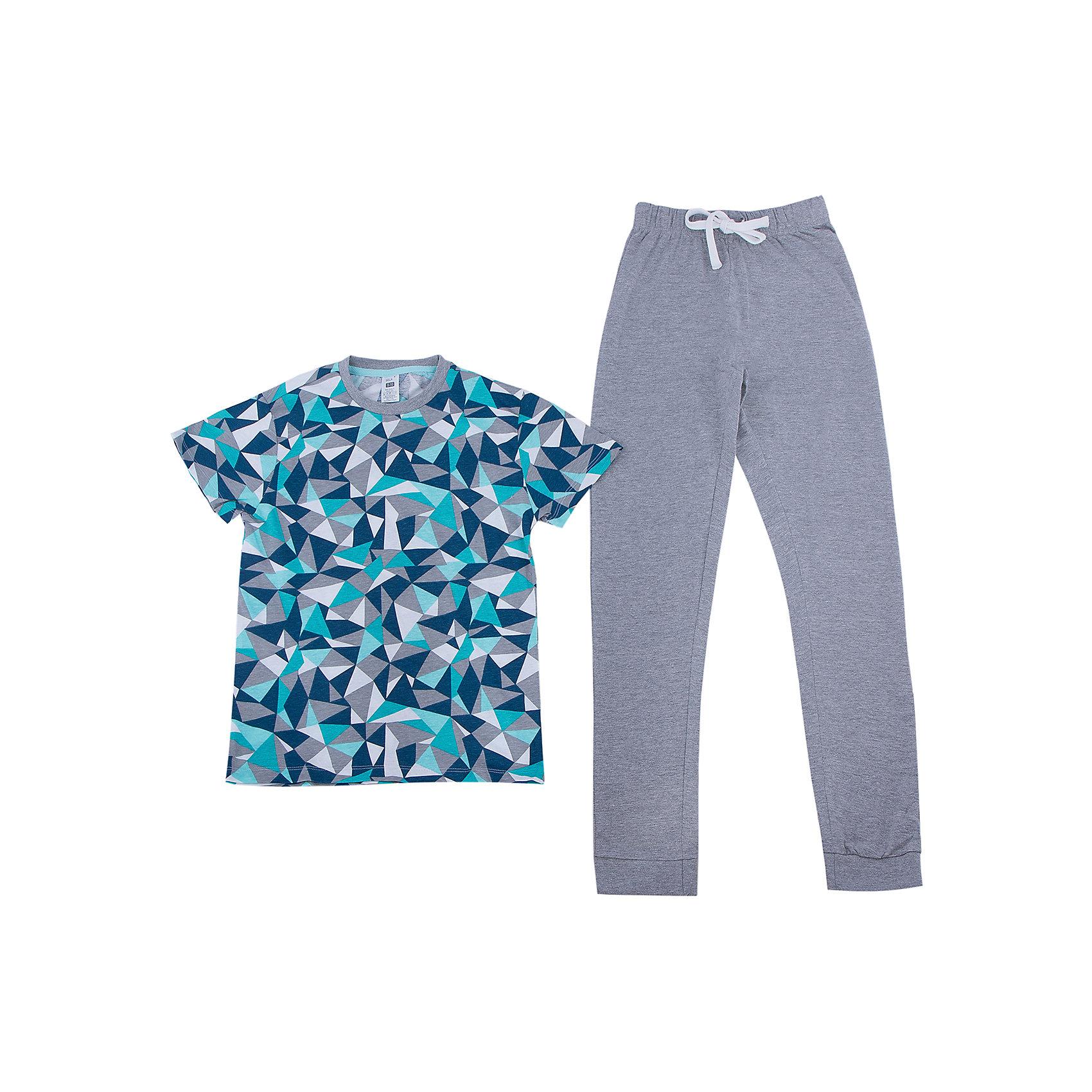 Пижама для мальчика SELAПижама для мальчика из коллекции осень-зима 2016-2017 от известного бренда SELA. Стильная хлопковая пижама с футболкой и длинными штанами позволяет коже дышать и чувствовать себя в ней комфортно. В комплект входят футболка и штаны с резинками на манжетах. На штанах имеется практичный шнурок, позволяющий контролировать эластичную резинку. <br> <br>Дополнительная информация:<br>- в комплект входят: футболка и штаны <br><br>Состав: 100% хлопок <br><br>Пижаму для мальчиков Sela можно купить в нашем интернет-магазине.<br>.<br>Подробнее:<br>• Для детей в возрасте: от 6 до 12 лет<br>• Номер товара: 4913323<br>Страна производитель: Индия<br><br>Ширина мм: 281<br>Глубина мм: 70<br>Высота мм: 188<br>Вес г: 295<br>Цвет: голубой<br>Возраст от месяцев: 24<br>Возраст до месяцев: 36<br>Пол: Мужской<br>Возраст: Детский<br>Размер: 92/98,116/122,104/110,128/134<br>SKU: 4913322