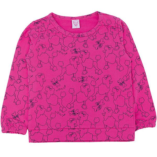 Толстовка для девочки SELAТолстовки<br>Толстовка для девочки из коллекции осень-зима 2016-2017 от известного бренда SELA. Удобный яркий хлопковый джемпер на каждый день. Насыщенный цвет фуксии и рисунки королевских пуделей придут по вкусу модницам и любительницам животных. Джемпер отлично подойдет к юбкам и к джинсам.<br><br>Дополнительная информация:<br>- Длина: нормальная<br>- Рукав длинный<br>- Силуэт: прямой<br>Состав: 100% хлопок <br><br>Джемпер для девочек Sela можно купить в нашем интернет-магазине.<br><br>Подробнее:<br>• Для детей в возрасте: от 2 до 6 лет<br>• Номер товара: 4913369<br>Страна производитель: Китай<br>Ширина мм: 190; Глубина мм: 74; Высота мм: 229; Вес г: 236; Цвет: лиловый; Возраст от месяцев: 60; Возраст до месяцев: 72; Пол: Женский; Возраст: Детский; Размер: 116,98,92,110,104; SKU: 4913368;