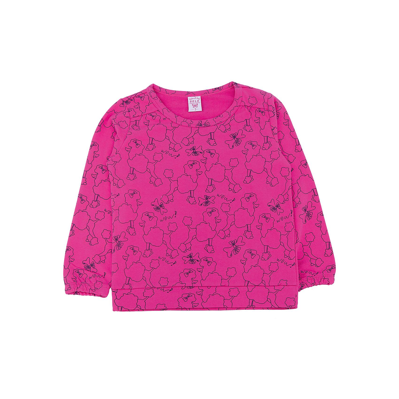 Толстовка для девочки SELAТолстовки<br>Толстовка для девочки из коллекции осень-зима 2016-2017 от известного бренда SELA. Удобный яркий хлопковый джемпер на каждый день. Насыщенный цвет фуксии и рисунки королевских пуделей придут по вкусу модницам и любительницам животных. Джемпер отлично подойдет к юбкам и к джинсам.<br><br>Дополнительная информация:<br>- Длина: нормальная<br>- Рукав длинный<br>- Силуэт: прямой<br>Состав: 100% хлопок <br><br>Джемпер для девочек Sela можно купить в нашем интернет-магазине.<br><br>Подробнее:<br>• Для детей в возрасте: от 2 до 6 лет<br>• Номер товара: 4913369<br>Страна производитель: Китай<br><br>Ширина мм: 190<br>Глубина мм: 74<br>Высота мм: 229<br>Вес г: 236<br>Цвет: фиолетовый<br>Возраст от месяцев: 48<br>Возраст до месяцев: 60<br>Пол: Женский<br>Возраст: Детский<br>Размер: 110,104,98,92,116<br>SKU: 4913368