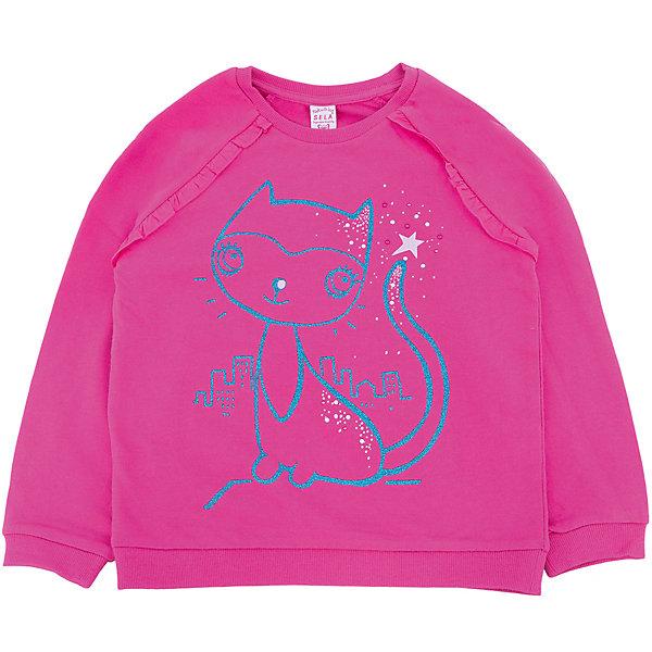 Толстовка для девочки SELAТолстовки<br>Толстовка для девочки из коллекции осень-зима 2016-2017 от известного бренда SELA. Удобный хлопковый джемпер на каждый день. Приятный цвет и яркий рисунок кошки придут по вкусу модницам и любительницам животных. Джемпер отлично подойдет к юбкам и к джинсам.<br><br>Дополнительная информация:<br>- Длина: нормальная<br>- Рукав: длинный, реглан<br>- Силуэт: прямой<br>Состав: 100% хлопок <br><br>Джемпер для девочек Sela можно купить в нашем интернет-магазине.<br><br>Подробнее:<br>• Для детей в возрасте: от 2 до 6 лет<br>• Номер товара: 4913381<br>Страна производитель: Китай<br><br>Ширина мм: 190<br>Глубина мм: 74<br>Высота мм: 229<br>Вес г: 236<br>Цвет: лиловый<br>Возраст от месяцев: 60<br>Возраст до месяцев: 72<br>Пол: Женский<br>Возраст: Детский<br>Размер: 116,98,92,110,104<br>SKU: 4913380
