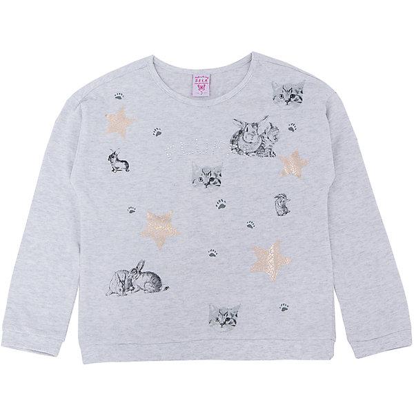 Толстовка для девочки SELAТолстовки<br>Толстовка  для девочки из коллекции осень-зима 2016-2017 от известного бренда SELA. Удобный хлопковый джемпер на каждый день. Приятный светло-серый цвет и рисунки кроликов и котят придут по вкусу модницам и любительницам животных. Джемпер отлично подойдет к юбкам и к джинсам.<br><br>Дополнительная информация:<br>- Длина: слегка укороченная<br>- Рукав: длинный, спущенное плечо<br>- Силуэт: прямой, свободный<br>Состав: 100% хлопок <br><br>Джемпер для девочек Sela можно купить в нашем интернет-магазине.<br><br>Подробнее:<br>• Для детей в возрасте: от 2 до 6 лет<br>• Номер товара: 4913439<br>Страна производитель: Китай<br><br>Ширина мм: 190<br>Глубина мм: 74<br>Высота мм: 229<br>Вес г: 236<br>Цвет: серый<br>Возраст от месяцев: 36<br>Возраст до месяцев: 48<br>Пол: Женский<br>Возраст: Детский<br>Размер: 104,116,98,92,110<br>SKU: 4913438