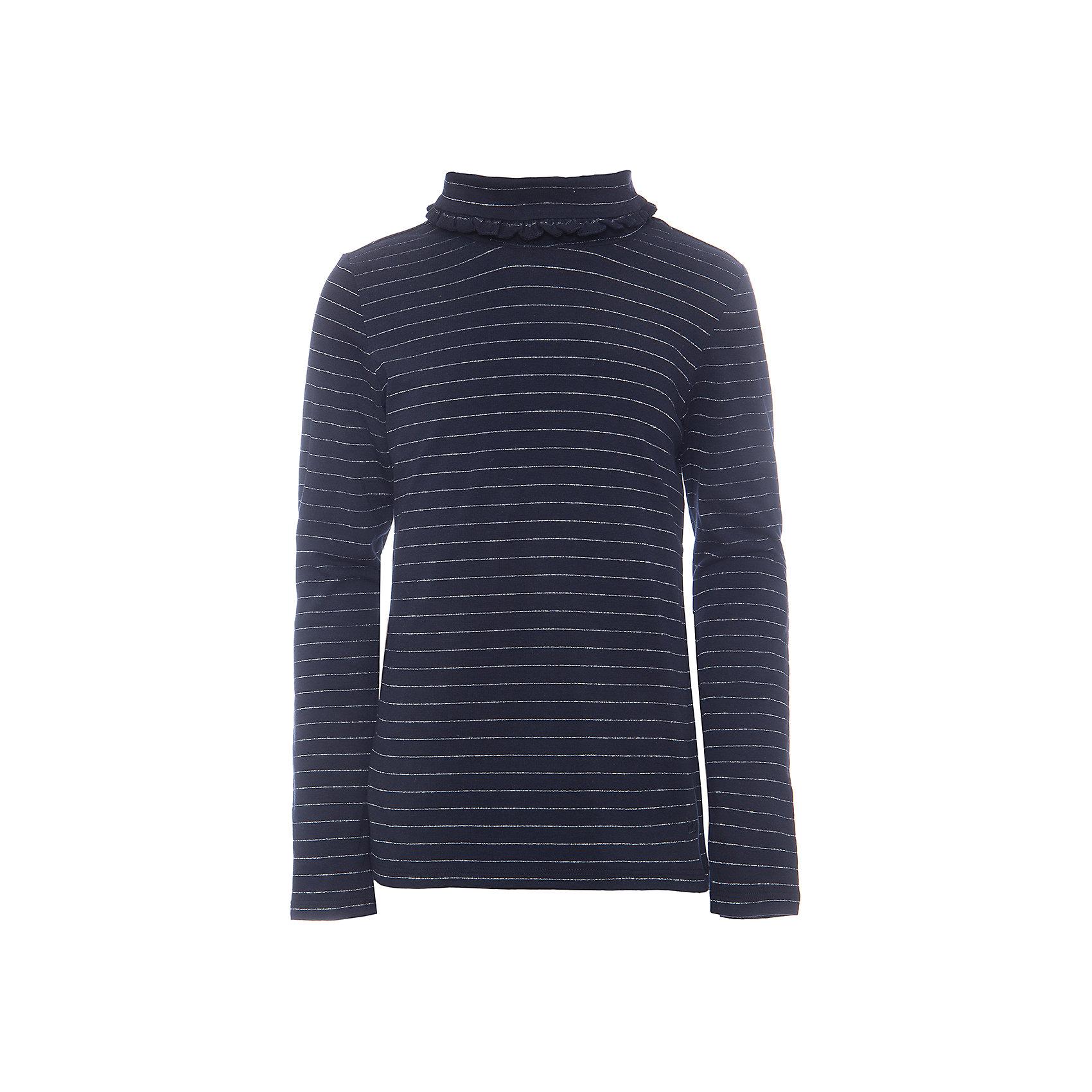 Водолазка для девочкиВодолазки<br>Водолазка для девочки из коллекции осень-зима 2016-2017 от известного бренда SELA. Удобный хлопковый джемпер на каждый день. Приятный темно-синий цвет в сочетании с темно-серыми полосочками и романтичным воротом придет по вкусу вашей моднице. Джемпер отлично подойдет к юбкам и брюкам, а также к джинсам.<br><br>Дополнительная информация:<br>- Рукав: длинный<br>- Силуэт: полуприлегающий<br>Состав: 95% хлопок 5% эластан<br><br>Джемпер для девочек Sela можно купить в нашем интернет-магазине.<br><br>Подробнее:<br>• Для детей в возрасте: от 6 до12 лет<br>• Номер товара: 4913497<br>Страна производитель: Китай<br><br>Ширина мм: 190<br>Глубина мм: 74<br>Высота мм: 229<br>Вес г: 236<br>Цвет: синий<br>Возраст от месяцев: 132<br>Возраст до месяцев: 144<br>Пол: Женский<br>Возраст: Детский<br>Размер: 152,128,122,146,134,140,116<br>SKU: 4913496