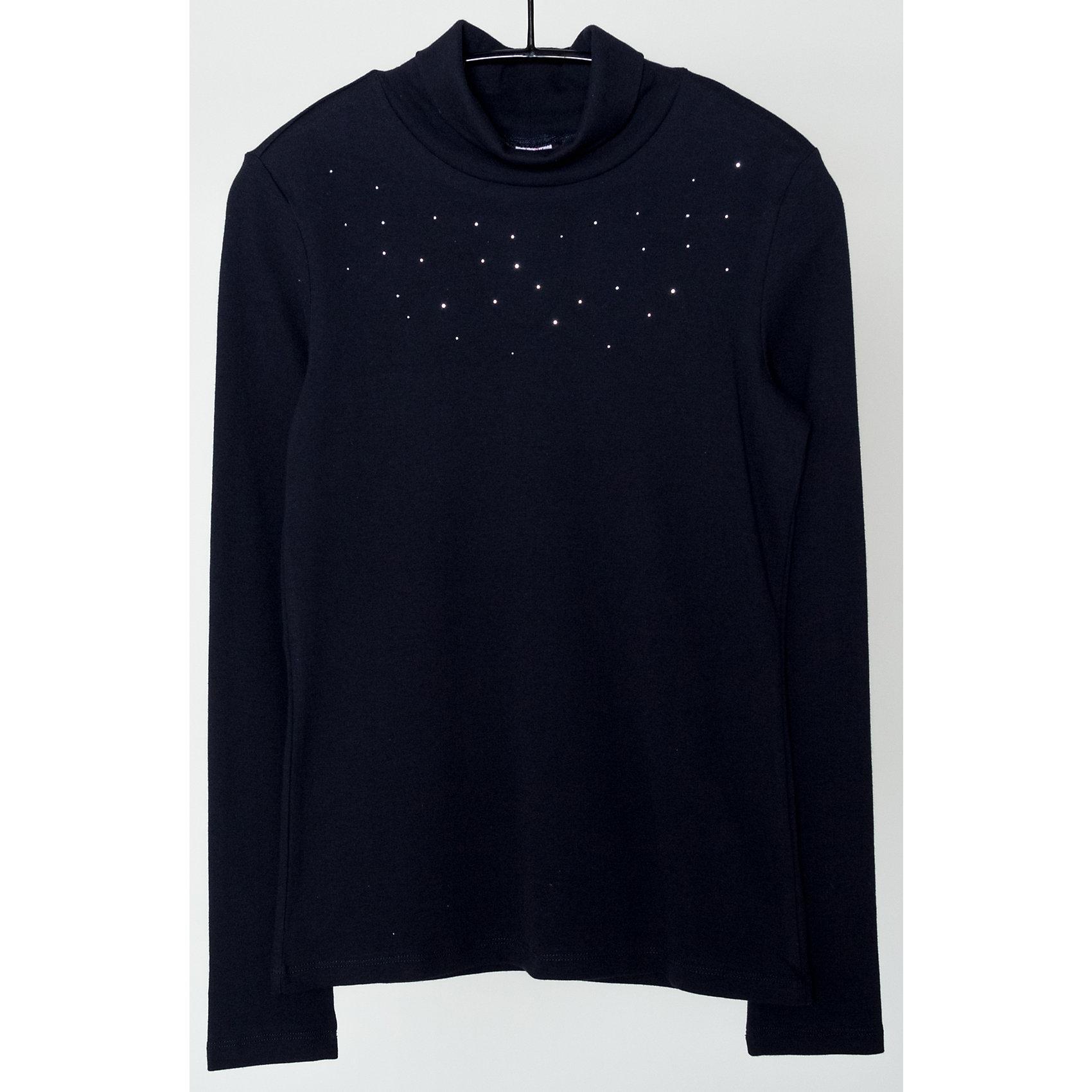 Водолазка для девочки SELAВодолазки<br>Водолазка для девочки из коллекции осень-зима 2016-2017 от известного бренда SELA. Удобный хлопковый джемпер на каждый день. Приятный темно-синий цвет в сочетании с классическим дизайном и мелкими стразами придет по вкусу вашей моднице. Джемпер отлично подойдет к юбкам и брюкам, а также к джинсам.<br><br>Дополнительная информация:<br>- Рукав: длинный<br>- Силуэт: полуприлегающий<br>Состав: 95% хлопок 5% эластан<br><br>Джемпер для девочек Sela можно купить в нашем интернет-магазине.<br><br>Подробнее:<br>• Для детей в возрасте: от 6 до12 лет<br>• Номер товара: 4913539<br>Страна производитель: Китай<br><br>Ширина мм: 190<br>Глубина мм: 74<br>Высота мм: 229<br>Вес г: 236<br>Цвет: синий<br>Возраст от месяцев: 156<br>Возраст до месяцев: 168<br>Пол: Женский<br>Возраст: Детский<br>Размер: 164,158,152,170<br>SKU: 4913538