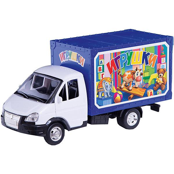 Машина ГазельМашинки<br>Разнообразную технику обожает множество современных мальчишек, поэтому машина Газель, выглядящая почти как настоящая, обязательно порадует ребенка. Такие игрушки помогают детям развивать воображение, мелкую моторику, логику и творческое мышление.<br>Машина прекрасно детализирована, она сделана в масштабе 1:43, имеет литой металлический корпус, фары, прочные, небьющиеся стекла, резиновые колеса. Игрушка дополнена инерционным механизмом и световыми эффектами. Двери у нее  открываются и закрываются. С такой игрушкой можно придумать множество игр!<br><br>Дополнительная информация:<br><br>цвет: разноцветный;<br>размер коробки: 31 х 10 х 17 см;<br>вес: 660 г;<br>материал: металл, резина, пластик;<br>световые и звуковые эффекты.<br><br>Машину Газель можно купить в нашем магазине.<br><br>Ширина мм: 100<br>Глубина мм: 170<br>Высота мм: 310<br>Вес г: 660<br>Возраст от месяцев: 36<br>Возраст до месяцев: 60<br>Пол: Мужской<br>Возраст: Детский<br>SKU: 4913601