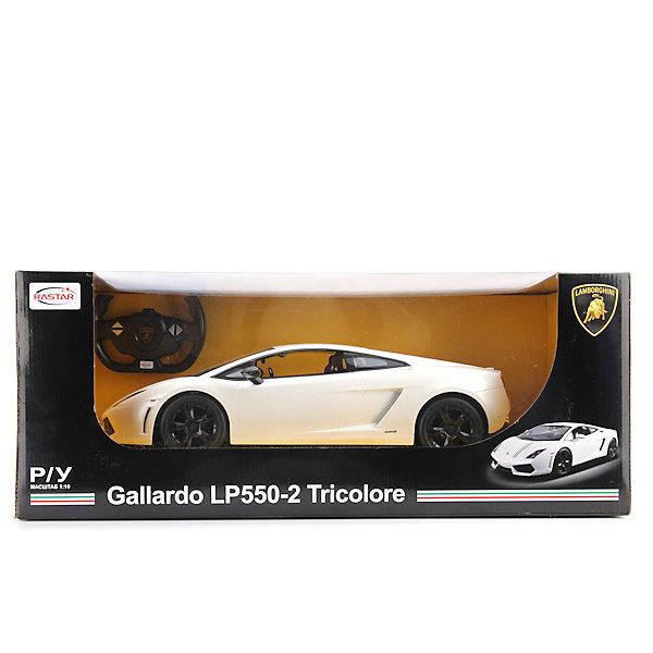 Машина р/у Lamborghini gallardo lp550-2, масштаб 1:10Радиоуправляемые машины<br>Спортивные машины обожает множество современных мальчишек, поэтому машина Lamborghini gallardo lp550-2, выглядящая почти как настоящая, обязательно порадует ребенка. Такие игрушки помогают детям развивать воображение, мелкую моторику, логику и творческое мышление.<br>Машина прекрасно детализирована, она сделана в масштабе 1:10, двигается с помощью аккумулятора и радиоуправления. Игрушка двигается вправо, влево, вперёд, назад. На ней включаются фары и фонарь заднего хода. С такой машиной можно придумать множество игр!<br><br>Дополнительная информация:<br><br>цвет: черный, белый;<br>размер коробки: 25 х 24 х 58 см;<br>вес: 2950 г;<br>материал: металл, пластик;<br>световые эффекты.<br><br>Машину р/у Lamborghini gallardo lp550-2, масштаб 1:10 можно купить в нашем магазине<br><br>Ширина мм: 250<br>Глубина мм: 240<br>Высота мм: 580<br>Вес г: 2950<br>Возраст от месяцев: 36<br>Возраст до месяцев: 60<br>Пол: Мужской<br>Возраст: Детский<br>SKU: 4913602