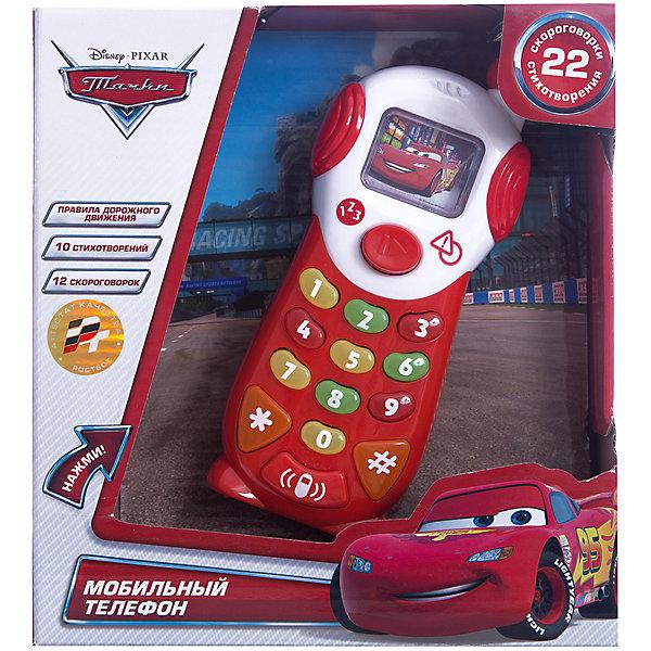 Мобильный телефон ТачкиТачки<br>Многие дети обожают имитировать занятия взрослых, с том числе, говорить по телефону. Сделать это занятие веселее помогут герои из мультфильма Тачки. Яркая обучающая игрушка с их изображением работает от батареек и имеет множество возможностей: 9 обучающих функций, 10 стихотворений, 12 скороговорок, 1 песня, световые и звуковые эффекты. Она так похожа на настоящую!<br>Этот мобильный телефон обязательно порадует ребенка! Игра с ним помогает детям развивать мелкую моторику и познавать мир. Обучающая игрушка сделана из качественных и безопасных для ребенка материалов.<br><br>Дополнительная информация:<br><br>цвет: разноцветный;<br>размер упаковки: 7 x 21 x 20 см;<br>вес: 420 г;<br>работает от батареек;<br>материал: пластик.<br><br>Мобильный телефон Тачки можно купить в нашем магазине.<br>Ширина мм: 70; Глубина мм: 220; Высота мм: 200; Вес г: 420; Возраст от месяцев: 12; Возраст до месяцев: 48; Пол: Мужской; Возраст: Детский; SKU: 4913614;
