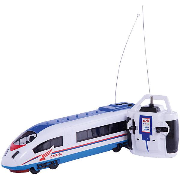 Сапсан  р/уЖелезные дороги<br>Поезда обожает множество современных мальчишек, поэтому копия поезда Сапсан, выглядящая почти как настоящая, обязательно порадует ребенка. Такие игрушки помогают детям развивать воображение, мелкую моторику, логику и творческое мышление.<br>Модель поезда прекрасно детализирована, у неё есть возможность воспроизводить объявления, во время поездки слышится звук движущегося поезда, предусмотрены также световые эффекты, двигается она с помощью аккумулятора и радиоуправления. С такой игрушкой можно придумать множество игр!<br><br>Дополнительная информация:<br><br>цвет: разноцветный;<br>размер коробки: 45 х 7 х 13 см;<br>вес: 620 г;<br>материал: металл, пластик;<br>световые и звуковые эффекты.<br><br>Сапсан р/у можно купить в нашем магазине<br>Ширина мм: 130; Глубина мм: 70; Высота мм: 450; Вес г: 620; Возраст от месяцев: 36; Возраст до месяцев: 60; Пол: Мужской; Возраст: Детский; SKU: 4913621;
