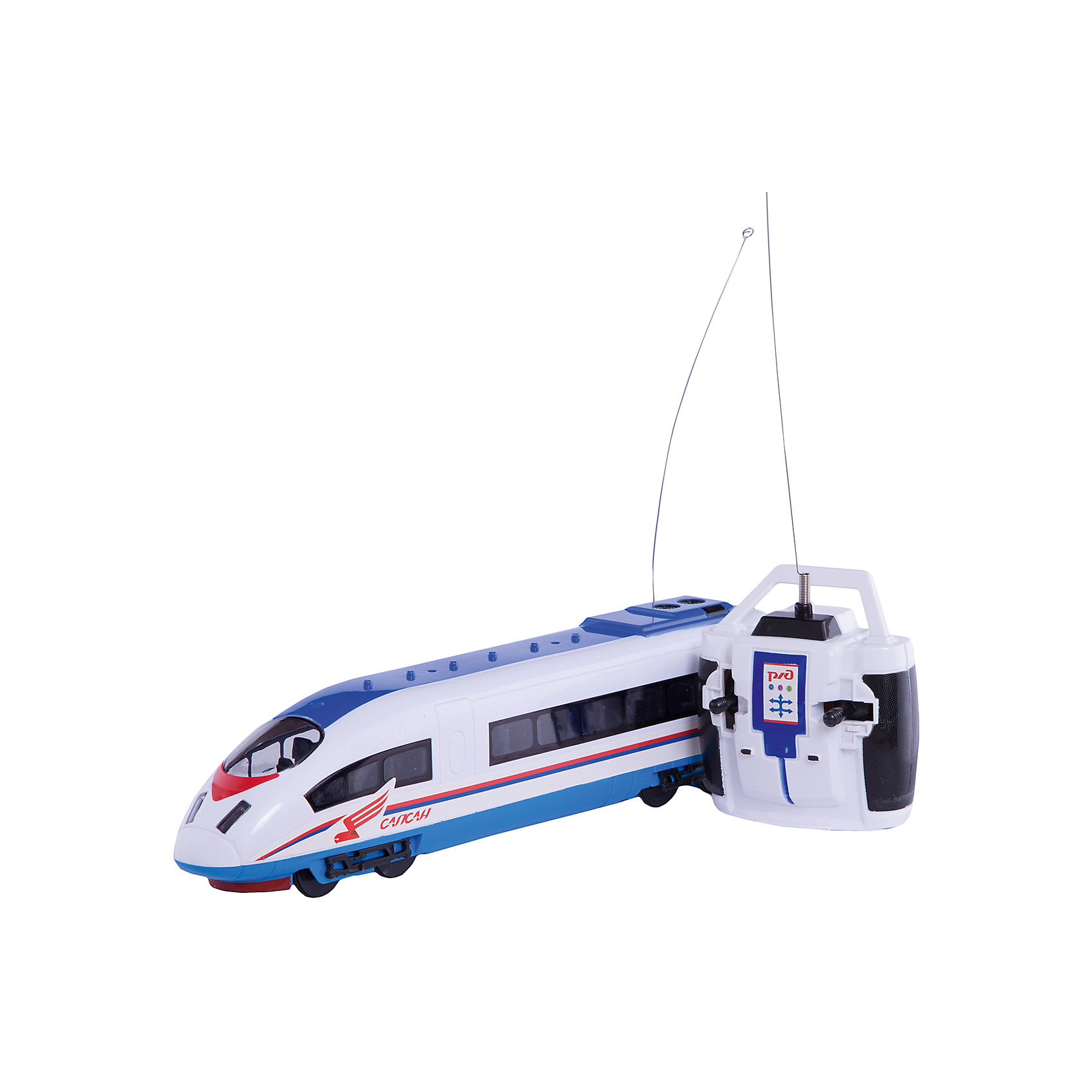 Сапсан  р/уПоезда обожает множество современных мальчишек, поэтому копия поезда Сапсан, выглядящая почти как настоящая, обязательно порадует ребенка. Такие игрушки помогают детям развивать воображение, мелкую моторику, логику и творческое мышление.<br>Модель поезда прекрасно детализирована, у неё есть возможность воспроизводить объявления, во время поездки слышится звук движущегося поезда, предусмотрены также световые эффекты, двигается она с помощью аккумулятора и радиоуправления. С такой игрушкой можно придумать множество игр!<br><br>Дополнительная информация:<br><br>цвет: разноцветный;<br>размер коробки: 45 х 7 х 13 см;<br>вес: 620 г;<br>материал: металл, пластик;<br>световые и звуковые эффекты.<br><br>Сапсан р/у можно купить в нашем магазине<br><br>Ширина мм: 130<br>Глубина мм: 70<br>Высота мм: 450<br>Вес г: 620<br>Возраст от месяцев: 36<br>Возраст до месяцев: 60<br>Пол: Мужской<br>Возраст: Детский<br>SKU: 4913621