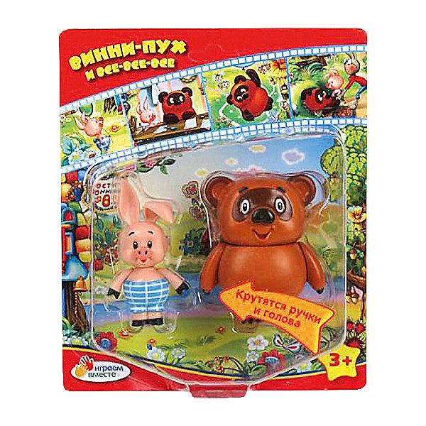Набор из 2-х фигурок Винни-Пух и ПяточокФигурки из мультфильмов<br>Современные дети тоже любят героев добрых советских мультфильмов, в том числе, Винни-Пуха и Пятачка. Их фигурки обязательно порадуют ребенка. Подобные игрушки развивают воображение, внимательность и мелкую моторику.<br>Фигурки понравятся ребенку - они выглядят один в один как герои мультфильма. Игрушка имеет универсальный размер: его удобно брать с  собой на прогулку или в гости. Игрушка сделана из качественных и безопасных для ребенка материалов. <br><br><br>Дополнительная информация:<br><br>цвет: разноцветный;<br>материал: пластик;<br>вес: 130 г;<br>комплектация: 2 фигурки;<br>размер упаковки: 5 х 20 х 17 см.<br><br>Набор из 2-х фигурок Винни-Пух и Пятачок от компании Играем вместе можно купить в нашем магазине.<br><br>Ширина мм: 50<br>Глубина мм: 200<br>Высота мм: 170<br>Вес г: 130<br>Возраст от месяцев: 12<br>Возраст до месяцев: 60<br>Пол: Унисекс<br>Возраст: Детский<br>SKU: 4913626