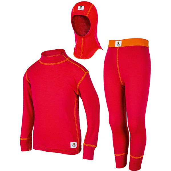 Комплект: футболка и рейтузы для девочки Janus + шлем в подарокФлис и термобелье<br>Характеристики товара:<br><br>• цвет: красный<br>• комплектация: лонгслив, рейтузы, шапка-шлем<br>• состав ткани: 100% шерсть мериноса<br>• подкладка: нет<br>• сезон: зима<br>• температурный режим: от -30 до +5<br>• пояс: резинка<br>• длинные рукава<br>• страна бренда: Норвегия<br>• страна изготовитель: Норвегия<br><br>Такой детский комплект термобелья состоит из лонгслива, шапки-шлема и рейтуз. Такое термобелье можно надевать как нижний слой в морозы. Натуральный материал комплекта термобелья для детей позволяет коже дышать и впитывает лишнюю влагу. Тонкая шерсть мериноса приятна на ощупь, гипоаллергенна. <br><br>Комплект: футболка и рейтузы + шлем в подарок Janus (Янус) для девочки можно купить в нашем интернет-магазине.<br><br>Ширина мм: 190<br>Глубина мм: 74<br>Высота мм: 229<br>Вес г: 236<br>Цвет: розовый<br>Возраст от месяцев: 36<br>Возраст до месяцев: 48<br>Пол: Женский<br>Возраст: Детский<br>Размер: 104,152,116,134,128,86,140,122,146,98,92,110<br>SKU: 4913670