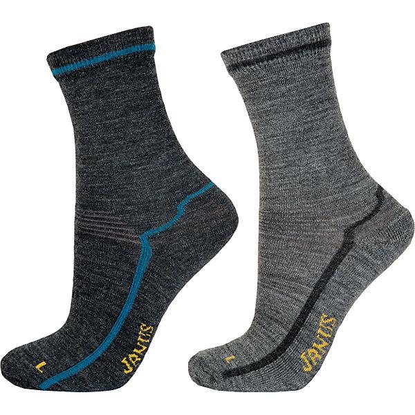 Носки: 2 пары  для мальчика JanusНоски<br>Носки: 2 пары  для мальчика известной марки Janus.<br><br>Теплые и мягкие махровые носочки Janus из  шерсти мериноса подарят тепло и комфорт вашему малышу, согревая его ножки в любую погоду. Две пары носочков с махровой вязкой на ступне идеальны для длительных прогулок в осенне-зимний сезон. Между махровыми петельками создается воздушная прослойка, обеспечивающая дополнительное тепло, а значит, в таких носках ребенок не замерзнет и не простудится даже в самый сильный мороз.<br><br>Уникальные антиаллергенные свойства мериносовой шерсти позволяют надевать носочки Janus на голую ногу, не вызывая раздражения кожи. Мягкий, приятный на ощупь и легкий в уходе материал позволит ребенку чувствовать себя комфортно и дома, и на прогулке. <br><br>Состав: 68% шерсть, 30% полиамид, 2% эластан<br><br>Ширина мм: 87<br>Глубина мм: 10<br>Высота мм: 105<br>Вес г: 115<br>Цвет: голубой<br>Возраст от месяцев: 36<br>Возраст до месяцев: 72<br>Пол: Мужской<br>Возраст: Детский<br>Размер: 25-29,35-39,20-24,30-34<br>SKU: 4913816