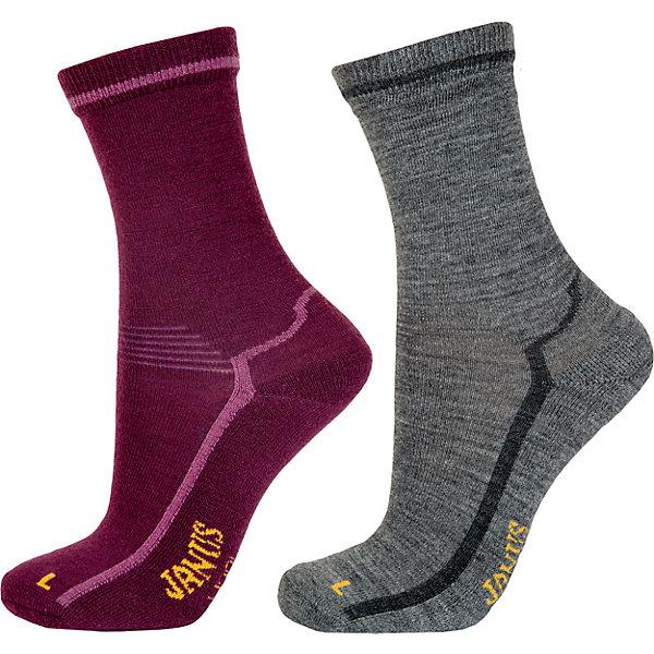 Носки: 2 пары  для девочки JanusНоски<br>Носки: 2 пары  для девочки известной марки Janus.<br><br>Теплые и мягкие махровые носочки Janus из  шерсти мериноса подарят тепло и комфорт вашему малышу, согревая его ножки в любую погоду. Две пары носочков с махровой вязкой на ступне идеальны для длительных прогулок в осенне-зимний сезон. Между махровыми петельками создается воздушная прослойка, обеспечивающая дополнительное тепло, а значит, в таких носках ребенок не замерзнет и не простудится даже в самый сильный мороз.<br><br>Уникальные антиаллергенные свойства мериносовой шерсти позволяют надевать носочки Janus на голую ногу, не вызывая раздражения кожи. Мягкий, приятный на ощупь и легкий в уходе материал позволит ребенку чувствовать себя комфортно и дома, и на прогулке. <br><br>Состав: 68% шерсть, 30% полиамид, 2% эластан<br><br>Ширина мм: 87<br>Глубина мм: 10<br>Высота мм: 105<br>Вес г: 115<br>Цвет: розовый<br>Возраст от месяцев: 132<br>Возраст до месяцев: 168<br>Пол: Женский<br>Возраст: Детский<br>Размер: 35-39,30-34,25-29,20-24<br>SKU: 4913821