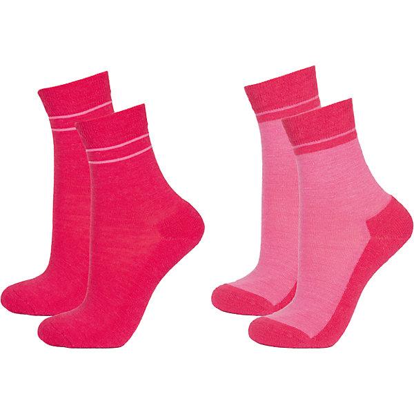 Носки: 2 пары  для девочки JanusНоски<br>Характеристики товара:<br><br>• цвет: розовый<br>• комплектация: 2 пары<br>• состав ткани: 60% шерсть мериноса, 38% полиамид, 2% эластан<br>• подкладка: нет<br>• сезон: зима<br>• застежка: нет<br>• страна бренда: Норвегия<br>• страна изготовитель: Норвегия<br><br>Детские носки сделаны из мягкого материала, содержащего натуральную шерсть мериноса. Шерстяные носки для детей отлично подходят для ношения в холодную погоду. В этом комплекте - две пары теплых носков. Благодаря мягкой резинке эти носки для детей не давят на ногу. <br><br>Термоноски: 2 пары Janus (Янус) для девочки можно купить в нашем интернет-магазине.<br>Ширина мм: 87; Глубина мм: 10; Высота мм: 105; Вес г: 115; Цвет: розовый; Возраст от месяцев: 132; Возраст до месяцев: 168; Пол: Женский; Возраст: Детский; Размер: 35-39,25-29,30-34,20-24; SKU: 4913846;