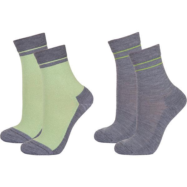Носки: 2 пары  JanusФлис и термобелье<br>Носки: 2 пары  известной марки Janus.<br><br>Теплые и мягкие махровые носочки Janus из  шерсти мериноса подарят тепло и комфорт вашему малышу, согревая его ножки в любую погоду. Две пары носочков с махровой вязкой на ступне идеальны для длительных прогулок в осенне-зимний сезон. Между махровыми петельками создается воздушная прослойка, обеспечивающая дополнительное тепло, а значит, в таких носках ребенок не замерзнет и не простудится даже в самый сильный мороз.<br><br>Уникальные антиаллергенные свойства мериносовой шерсти позволяют надевать носочки Janus на голую ногу, не вызывая раздражения кожи. Мягкий, приятный на ощупь и легкий в уходе материал позволит ребенку чувствовать себя комфортно и дома, и на прогулке. <br><br>Состав: 68% шерсть, 30% полиамид, 2% эластан<br><br>Ширина мм: 87<br>Глубина мм: 10<br>Высота мм: 105<br>Вес г: 115<br>Цвет: зеленый<br>Возраст от месяцев: 9<br>Возраст до месяцев: 24<br>Пол: Унисекс<br>Возраст: Детский<br>Размер: 30-34,25-29,35-39,20-24<br>SKU: 4913851