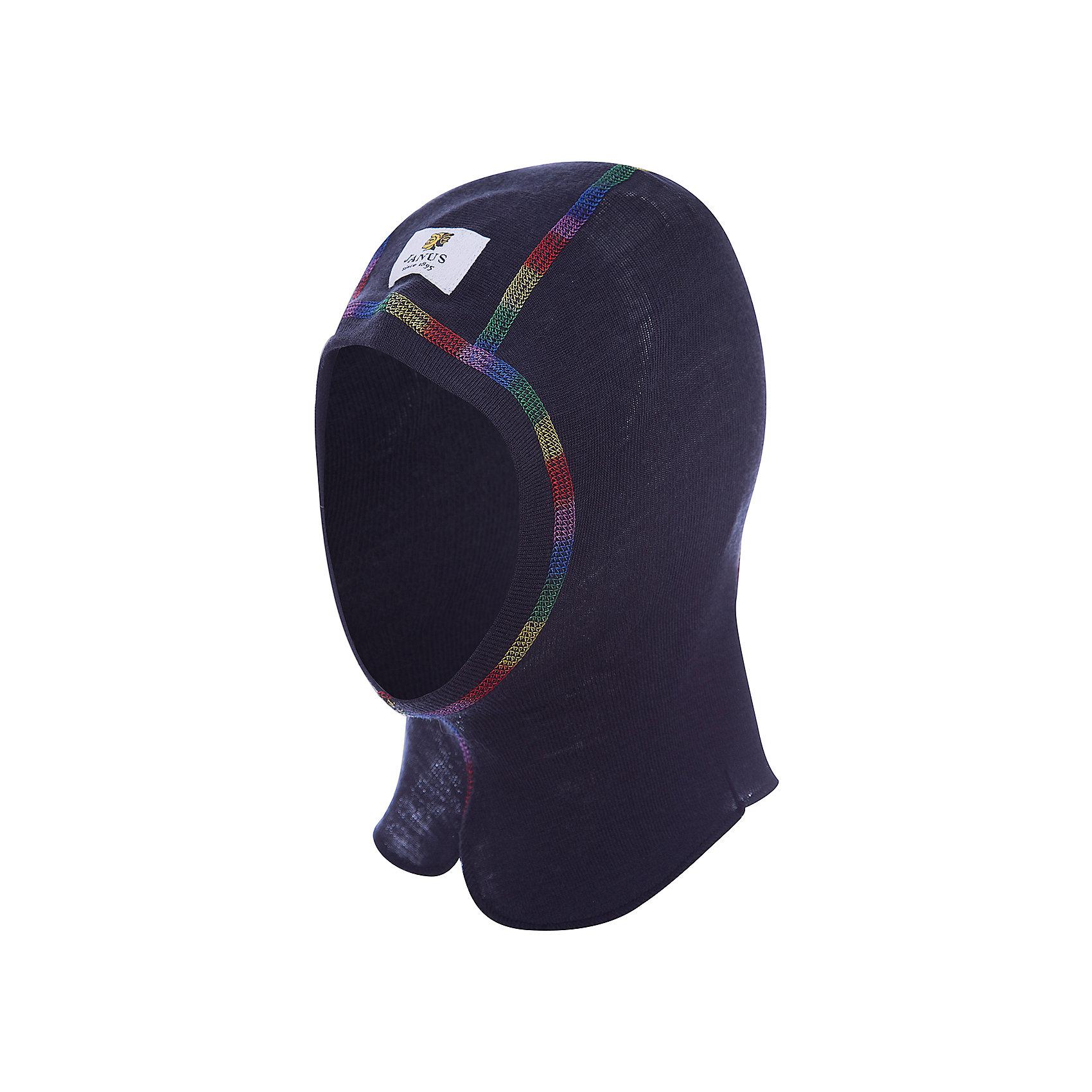 Шапка-шлем JanusФлис и термобелье<br>Шапка-шлем известной марки Janus.<br><br>Шапка-шлем однослойный из 100% шерсти мериноса, идеально подходит под все виды зимних головных уборов. Контрастные цветные плоские швы не натирают кожу ребенка и отличаются оригинальным дизайном. Детский шлем-балаклава Janus из 100%-ной мериносовой шерсти станет надежным щитом от мороза и ветра. Выполненный из целебной шерсти овец мериносов, он будет не только сохранять тепло, но оказывать лечебное воздействие на ушки и горло ребенка, которые часто подвергаются болезням в холодное время года.<br><br>Состав: 100% шерсть мериноса<br><br>Ширина мм: 89<br>Глубина мм: 117<br>Высота мм: 44<br>Вес г: 155<br>Цвет: серый<br>Возраст от месяцев: 48<br>Возраст до месяцев: 72<br>Пол: Мужской<br>Возраст: Детский<br>Размер: 51-53,53-55,49-51<br>SKU: 4913915