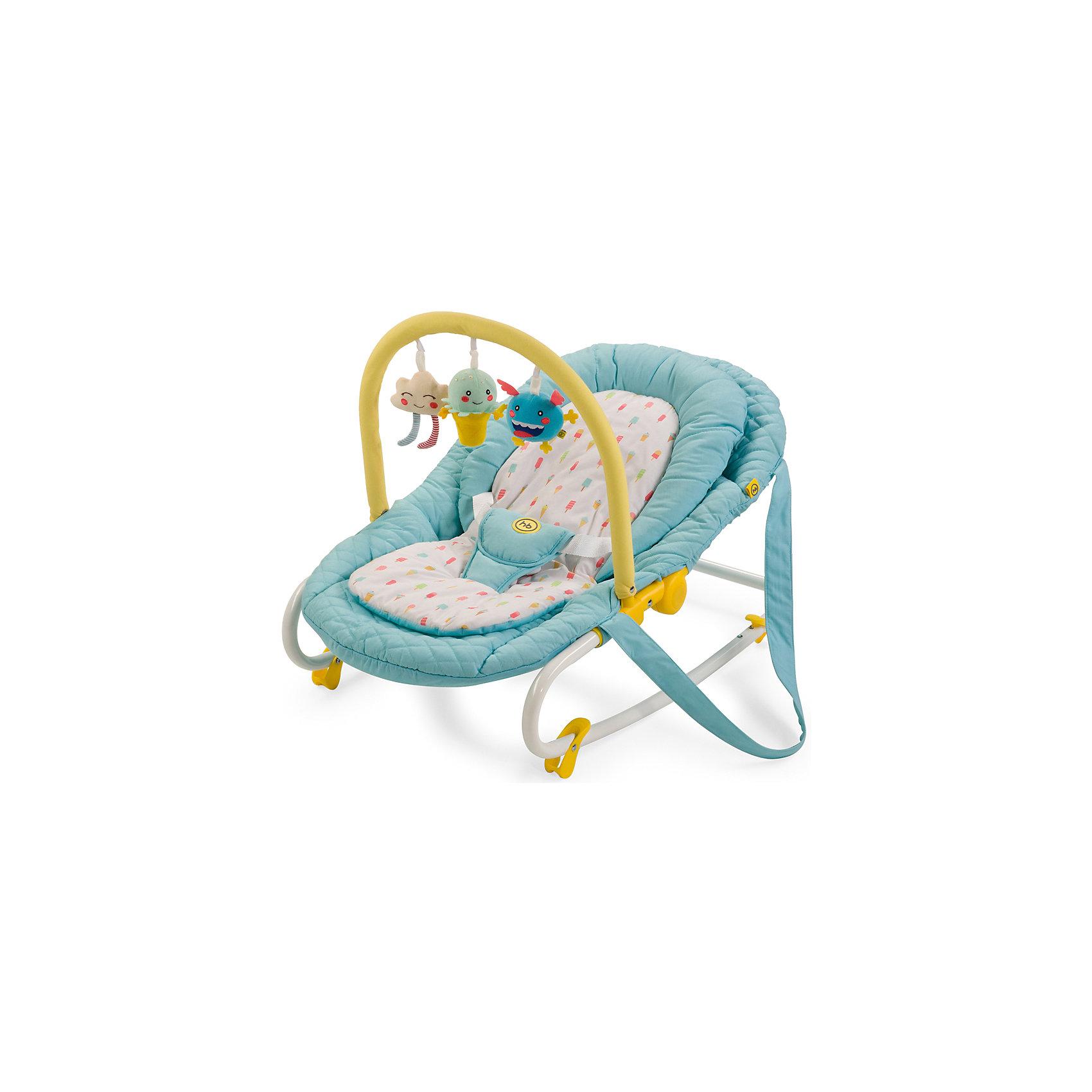 Шезлонг Nesty, Happy Baby, голубойШезлонг Nesty, Happy Baby, голубой – это уютное просторное гнездышко для малышей.<br>Шезлонг NESTY создан для малышей с рождения и до 9 кг. Три положения спинки позволят ребенку спокойно отдыхать в горизонтальном положении и бодрствовать в двух полусидящих положениях. Шезлонг отлично успокоит и укачает малыша, а благодаря четырем фиксаторам опоры, шезлонг можно зафиксировать в устойчивом горизонтальном положении. Трехточечные ремни безопасности надежно зафиксируют ребенка в шезлонге. Благодаря оригинальной расцветке и съемной дуге с яркими позитивными игрушками, малышу не будет скучно. Предусмотрены ремни для переноски, что очень удобно для транспортировки шезлонга. Мягкая внутренняя вкладка легко стирается и позволит малышу чувствовать себя в шезлонге комфортно.<br><br>Дополнительная информация:<br><br>- Возраст: с рождения<br>- Максимальная нагрузка: 9 кг.<br>- Цвет: голубой<br>- Регулировка наклона, 3 положения<br>- Трехточечные ремни безопасности<br>- Ограничители качания на ножках<br>- Съемная мягкая вкладка-матрасик<br>- Ручки для переноски<br>- Съемная дуга со сменными игрушками<br>- Материал: каркас - пластик, металл; тканые материалы - 100% полиэстер<br>- Размер в разложенном виде: 85х49х57 см.<br>- Ширина сиденья: 30 см.<br>- Глубина сиденья: 35 см.<br>- Длина спального места: 85 см.<br>- Вес: 3,3 кг.<br><br>Шезлонг Nesty, Happy Baby, голубой можно купить в нашем интернет-магазине.<br><br>Ширина мм: 90<br>Глубина мм: 510<br>Высота мм: 865<br>Вес г: 4600<br>Возраст от месяцев: 0<br>Возраст до месяцев: 6<br>Пол: Унисекс<br>Возраст: Детский<br>SKU: 4914548