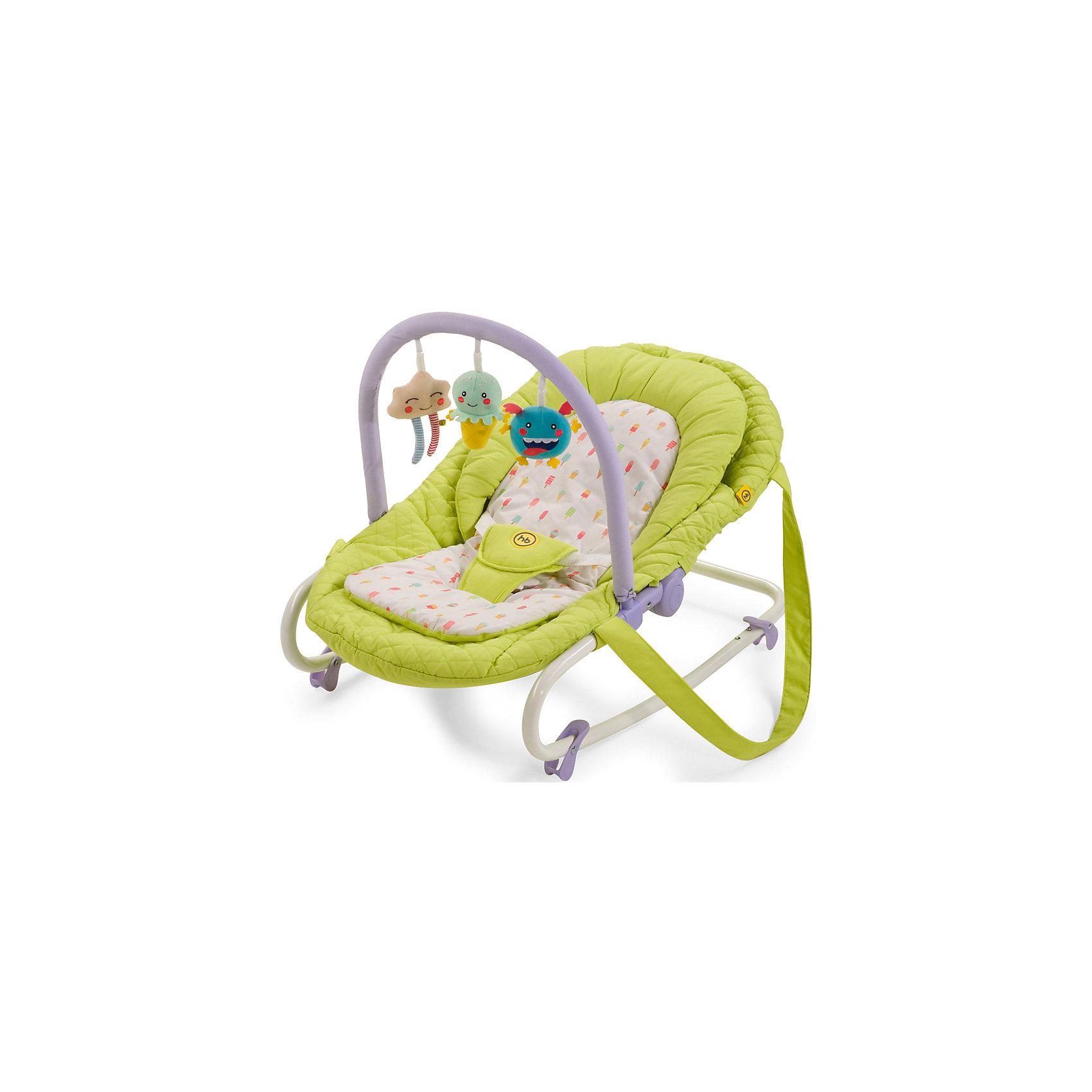 Шезлонг Nesty, Happy Baby, зеленыйШезлонг Nesty, Happy Baby, зеленый – это уютное просторное гнездышко для малышей.<br>Шезлонг NESTY создан для малышей с рождения и до 9 кг. Три положения спинки позволят ребенку спокойно отдыхать в горизонтальном положении и бодрствовать в двух полусидящих положениях. Шезлонг отлично успокоит и укачает малыша, а благодаря четырем фиксаторам опоры, шезлонг можно зафиксировать в устойчивом горизонтальном положении. Трехточечные ремни безопасности надежно зафиксируют ребенка в шезлонге. Благодаря оригинальной расцветке и съемной дуге с яркими позитивными игрушками, малышу не будет скучно. Предусмотрены ремни для переноски, что очень удобно для транспортировки шезлонга. Мягкая внутренняя вкладка легко стирается и позволит малышу чувствовать себя в шезлонге комфортно.<br><br>Дополнительная информация:<br><br>- Возраст: с рождения<br>- Максимальная нагрузка: 9 кг.<br>- Цвет: зеленый<br>- Регулировка наклона, 3 положения<br>- Трехточечные ремни безопасности<br>- Ограничители качания на ножках<br>- Съемная мягкая вкладка-матрасик<br>- Ручки для переноски<br>- Съемная дуга со сменными игрушками<br>- Материал: каркас - пластик, металл; тканые материалы - 100% полиэстер<br>- Размер в разложенном виде: 85х49х57 см.<br>- Ширина сиденья: 30 см.<br>- Глубина сиденья: 35 см.<br>- Длина спального места: 85 см.<br>- Вес: 3,3 кг.<br><br>Шезлонг Nesty, Happy Baby, зеленый можно купить в нашем интернет-магазине.<br><br>Ширина мм: 90<br>Глубина мм: 510<br>Высота мм: 865<br>Вес г: 4600<br>Возраст от месяцев: 0<br>Возраст до месяцев: 6<br>Пол: Унисекс<br>Возраст: Детский<br>SKU: 4914549