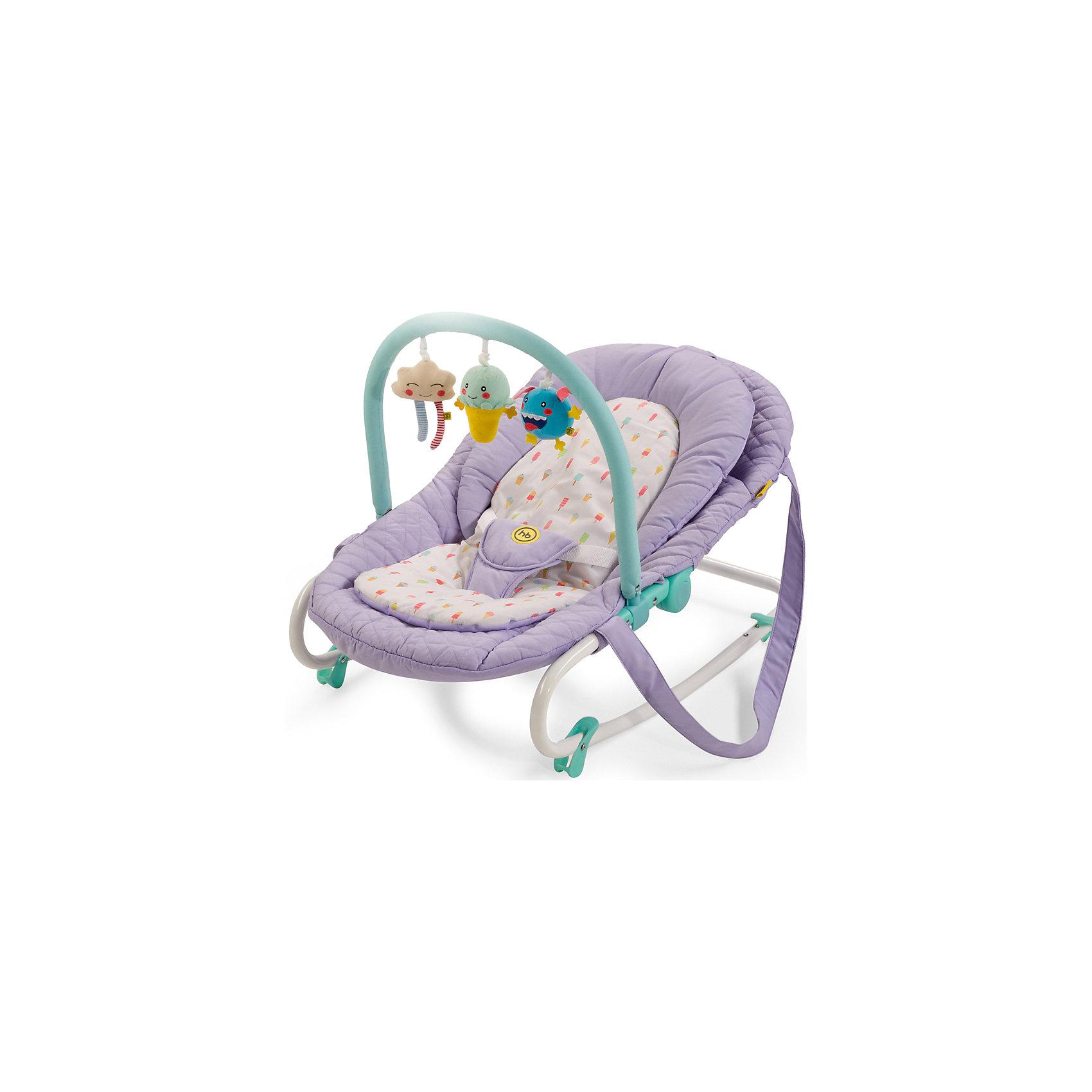 Шезлонг Nesty, Happy Baby, фиолетовыйШезлонг Nesty, Happy Baby, фиолетовый – это уютное просторное гнездышко для малышей.<br>Шезлонг NESTY создан для малышей с рождения и до 9 кг. Три положения спинки позволят ребенку спокойно отдыхать в горизонтальном положении и бодрствовать в двух полусидящих положениях. Шезлонг отлично успокоит и укачает малыша, а благодаря четырем фиксаторам опоры, шезлонг можно зафиксировать в устойчивом горизонтальном положении. Трехточечные ремни безопасности надежно зафиксируют ребенка в шезлонге. Благодаря оригинальной расцветке и съемной дуге с яркими позитивными игрушками, малышу не будет скучно. Предусмотрены ремни для переноски, что очень удобно для транспортировки шезлонга. Мягкая внутренняя вкладка легко стирается и позволит малышу чувствовать себя в шезлонге комфортно.<br><br>Дополнительная информация:<br><br>- Возраст: с рождения<br>- Максимальная нагрузка: 9 кг.<br>- Цвет: фиолетовый<br>- Регулировка наклона, 3 положения<br>- Трехточечные ремни безопасности<br>- Ограничители качания на ножках<br>- Съемная мягкая вкладка-матрасик<br>- Ручки для переноски<br>- Съемная дуга со сменными игрушками<br>- Материал: каркас - пластик, металл; тканые материалы - 100% полиэстер<br>- Размер в разложенном виде: 85х49х57 см.<br>- Ширина сиденья: 30 см.<br>- Глубина сиденья: 35 см.<br>- Длина спального места: 85 см.<br>- Вес: 3,3 кг.<br><br>Шезлонг Nesty, Happy Baby, фиолетовый можно купить в нашем интернет-магазине.<br><br>Ширина мм: 90<br>Глубина мм: 510<br>Высота мм: 865<br>Вес г: 4600<br>Возраст от месяцев: 0<br>Возраст до месяцев: 6<br>Пол: Унисекс<br>Возраст: Детский<br>SKU: 4914550