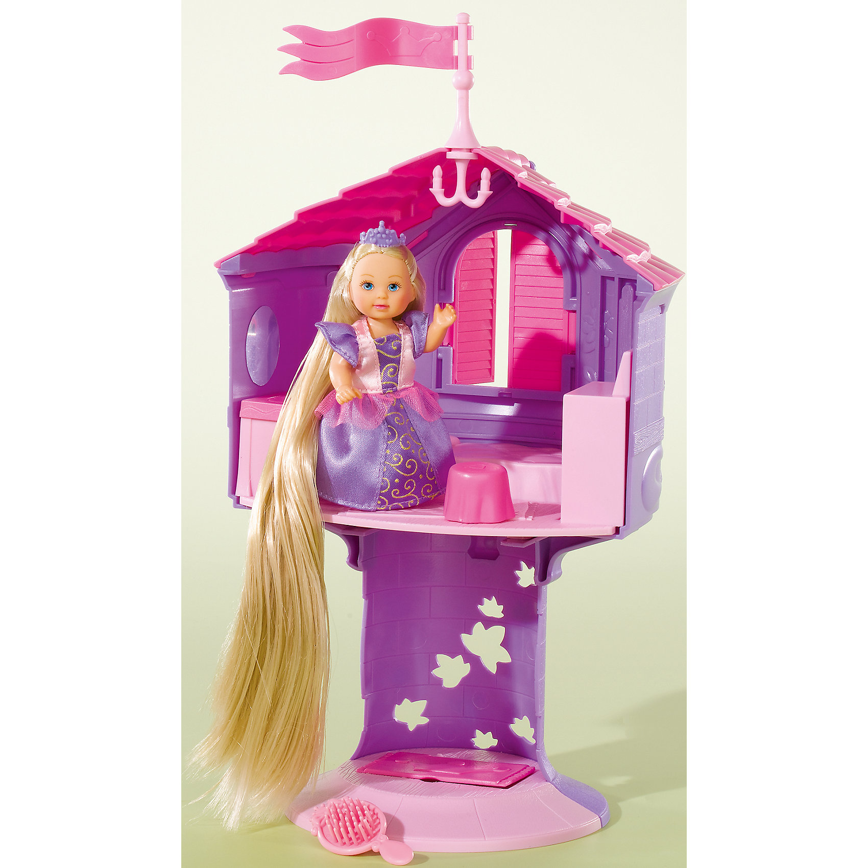 Кукла с длинными волосами в сказочной башне ЕвиМини-куклы<br>Девочки обожают принцесс и сказки. Кукла Еви с длинными, как у Рапунцель, волосами, приведет в восторг любую девочку! В дополнение к ней в набор включен волшебный замок.<br>Этот набор обязательно порадует ребенка! Он станет отличным подарком и поможет девочке развивать свою фантазию и мелкую моторику. Кукла и башня сделаны из качественных и безопасных для ребенка материалов.<br><br>Дополнительная информация:<br><br>цвет: разноцветный;<br>высота башни: 32 см;<br>вес набора: 850 г;<br>комплектация: кукла, башня;<br>материал: пластик.<br><br>Куклу с длинными волосами в сказочной башне Еви можно купить в нашем магазине.<br><br>Ширина мм: 150<br>Глубина мм: 330<br>Высота мм: 220<br>Вес г: 500<br>Возраст от месяцев: 36<br>Возраст до месяцев: 120<br>Пол: Женский<br>Возраст: Детский<br>SKU: 4915045