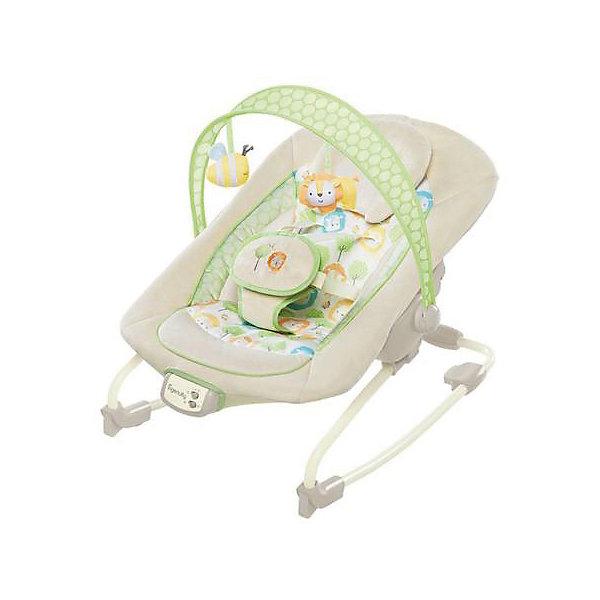 Кресло-качалка InGenuity «Солнечный день», Bright StartsДетские качели для дома<br>Нежные мелодии и легкая вибрация великолепно подходят для того, чтобы успокоить малыша!<br>Особенности<br>Сиденье можно раскачивать назад и вперед, чтобы успокоить малыша, или его можно зафиксировать в одном положении<br>Подходит для малышей и детей постарше <br>3-х позиционное сиденье колыбельного типа со съемным подголовником<br>Успокаивающая вибрация, 7 мелодий, регулировка громкости и автоматическое отключение через 15 минут<br>Съемная перекладина с  2-мя забавными мягкими игрушками<br>Ширина мм: 610; Глубина мм: 394; Высота мм: 133; Вес г: 4263; Возраст от месяцев: 0; Возраст до месяцев: 6; Пол: Унисекс; Возраст: Детский; SKU: 4915048;