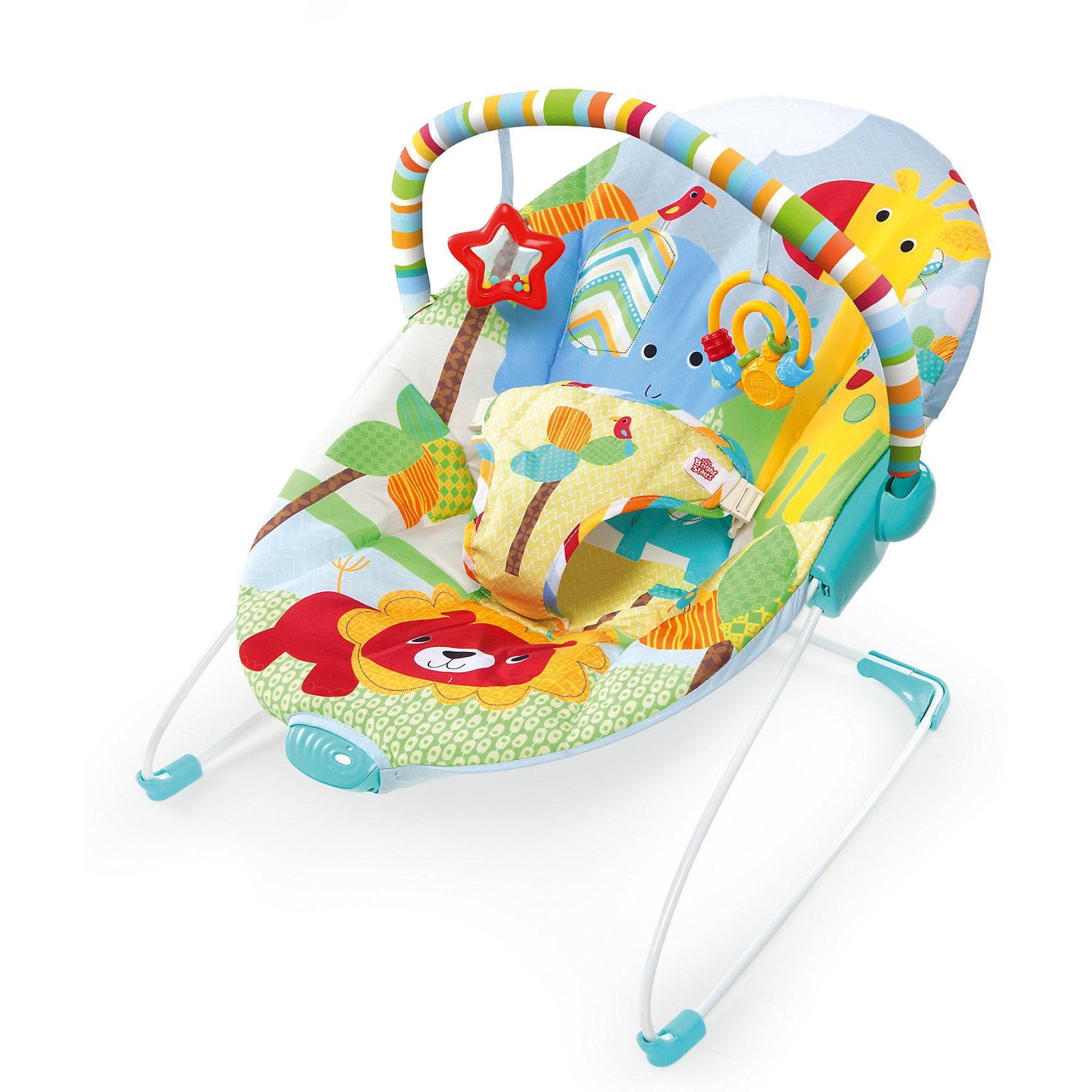 Кресло-качалка Фестиваль друзей, Bright StartsЗабавные игрушки развлекут вашего малыша, а нежная вибрация поможет его успокоить!<br>Приятные особенности:<br>Углубленное сиденье дает дополнительную поддержку спинке малыша <br>Успокаивающая вибрация <br>2 игрушки: звездочка - погремушка с разноцветными бусинами; спиралька – прорезыватель <br>Съемная перекладина с забавными игрушками может поворачиваться для быстрого доступа к ребенку <br><br>Дополнительные характеристики <br>3-х точечный ремень безопасности<br>1 батарейка типа С (не входят в комплект)<br>Сидение можно стирать в с<br><br>Ширина мм: 516<br>Глубина мм: 338<br>Высота мм: 84<br>Вес г: 2540<br>Возраст от месяцев: 0<br>Возраст до месяцев: 6<br>Пол: Унисекс<br>Возраст: Детский<br>SKU: 4915050