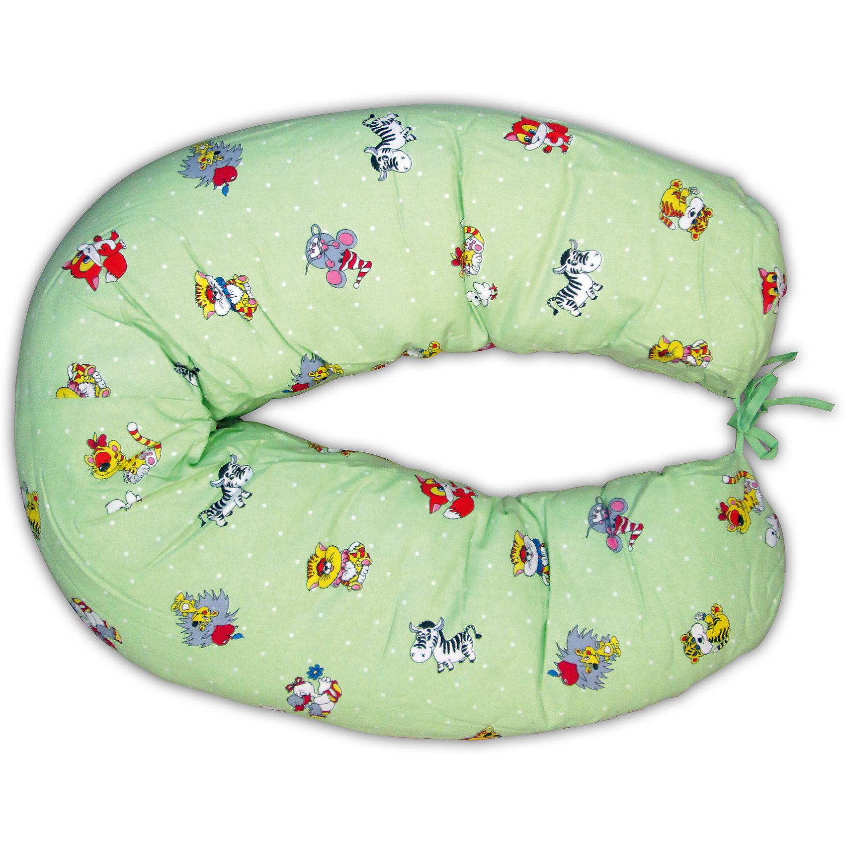 Подушка д/беременных и кормящих женщин, ФЭСТ, зеленыйПодушка многофункциональная ФЭСТ обеспечивает комфорт мамы и малыша.<br>В период беременности её удобно использовать, подкладывая под живот или спину.<br>Для уменьшения нагрузки на спину, плечи, руки и шею во время кормления расположите подушку вокруг талии.<br>Для поддержания ребенка в разных положениях и зашиты его от падения следует поместить малыша в центр подушки.<br>Модель со съёмным чехлом из хлопкового полотна (цвет рисунка может отличаться от представленного на фото).<br>Размер: длина 1500 мм, ширина 250 мм<br><br>Ширина мм: 700<br>Глубина мм: 160<br>Высота мм: 490<br>Вес г: 1220<br>Возраст от месяцев: -2147483648<br>Возраст до месяцев: 2147483647<br>Пол: Женский<br>Возраст: Детский<br>SKU: 4915074