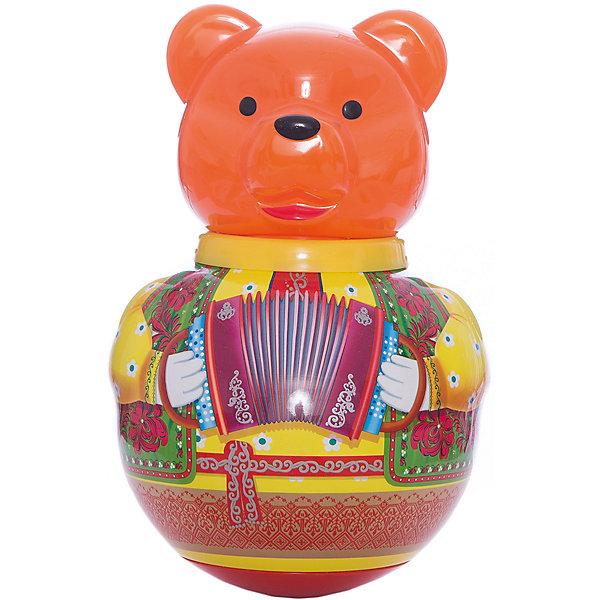 Неваляшка Бурый медведь ПотапычЮлы, неваляшки<br>Неваляшка Бурый медведь Потапыч<br><br>Характеристики:<br><br>• привлекательный дизайн<br>• приятный звук <br>• размер игрушки: 18х18х38 см<br>• размер упаковки: 18х18х38 см<br>• вес: 760 грамм<br>• материал: ПЭТ (полиэтилентерефталат)<br><br>Дети очень любят играть с неваляшкой. Так весело наклонять ее в разные стороны и смотреть, как она поднимается обратно! Медвежонок от Стеллар непременно понравится вашему малышу. Он умеет не только подниматься, но и издавать при этом приятные звуки, подобно колокольчику. Кроме того, яркие цвета привлекут внимание и малыш с радостью будет играть снова и снова. Игрушка изготовлена из прочных материалов, безопасных для крохи. Этот медвежонок поднимет настроение и не даст заскучать!<br><br>Неваляшку Бурый медведь Потапыч вы можете купить в нашем интернет-магазине.<br>Ширина мм: 185; Глубина мм: 180; Высота мм: 300; Вес г: 500; Возраст от месяцев: 36; Возраст до месяцев: 2147483647; Пол: Унисекс; Возраст: Детский; SKU: 4915283;