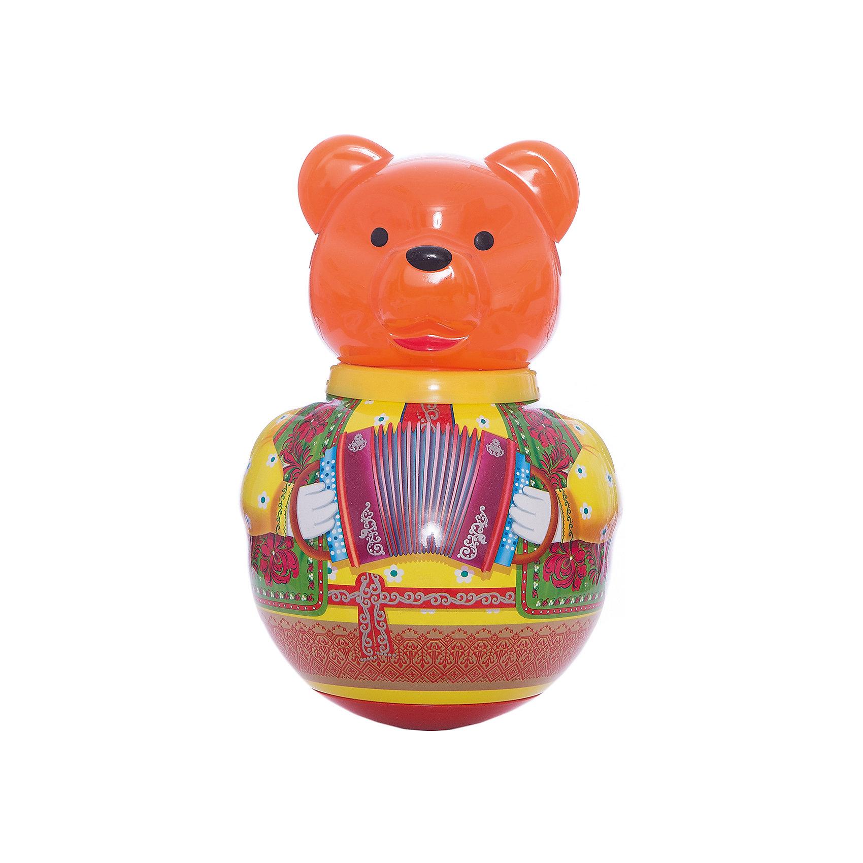 Неваляшка Бурый медведь ПотапычНеваляшка Бурый медведь Потапыч<br><br>Характеристики:<br><br>• привлекательный дизайн<br>• приятный звук <br>• размер игрушки: 18х18х38 см<br>• размер упаковки: 18х18х38 см<br>• вес: 760 грамм<br>• материал: ПЭТ (полиэтилентерефталат)<br><br>Дети очень любят играть с неваляшкой. Так весело наклонять ее в разные стороны и смотреть, как она поднимается обратно! Медвежонок от Стеллар непременно понравится вашему малышу. Он умеет не только подниматься, но и издавать при этом приятные звуки, подобно колокольчику. Кроме того, яркие цвета привлекут внимание и малыш с радостью будет играть снова и снова. Игрушка изготовлена из прочных материалов, безопасных для крохи. Этот медвежонок поднимет настроение и не даст заскучать!<br><br>Неваляшку Бурый медведь Потапыч вы можете купить в нашем интернет-магазине.<br><br>Ширина мм: 185<br>Глубина мм: 180<br>Высота мм: 300<br>Вес г: 500<br>Возраст от месяцев: 36<br>Возраст до месяцев: 2147483647<br>Пол: Унисекс<br>Возраст: Детский<br>SKU: 4915283
