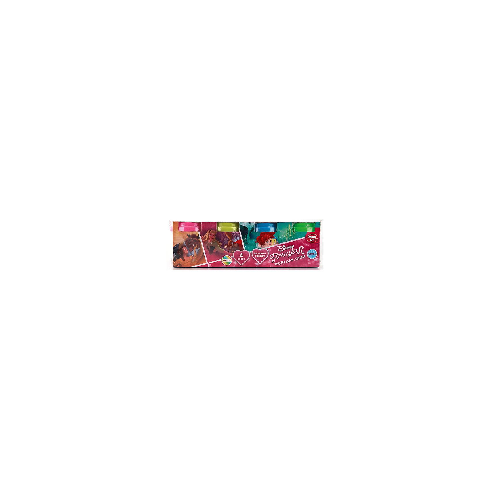 Тесто для лепки Принцессы Дисней, неоновое, 4 цветаЛепка<br>Тесто для лепки Принцессы Дисней создано специально для любителей известных мультсериалов от Disney(Дисней). Яркая упаковка с изображением любимых героев не оставит ребенка равнодушным.  Тесто не прилипает к рукам, а яркая неоновая расцветка позволит создать самые красочные фигурки, которые можно раскрасить после застывания. С таким набором воображение ребенка заиграет новыми красками!<br>Дополнительная информация:<br>-в наборе: 4 баночки с тестом разных цветов<br>Сказочный персонаж: Принцессы Дисней<br>-вес: 310 грамм<br>-размер упаковки: 21x7x5 см<br>Тесто для лепки Принцессы Дисней можно приобрести в нашем интернет-магазине.<br><br>Ширина мм: 50<br>Глубина мм: 70<br>Высота мм: 210<br>Вес г: 310<br>Возраст от месяцев: 36<br>Возраст до месяцев: 84<br>Пол: Женский<br>Возраст: Детский<br>SKU: 4915409