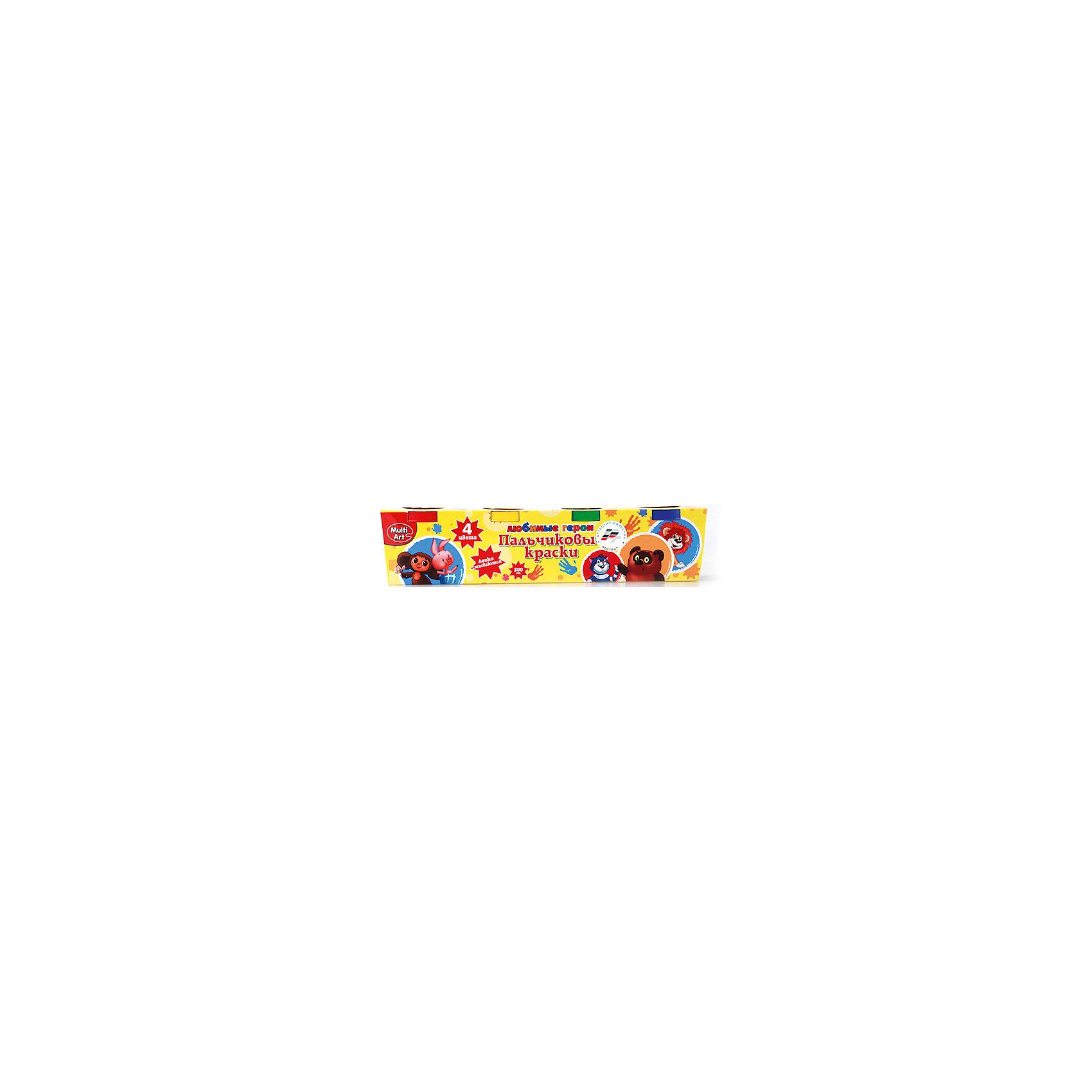 Играем вместе Пальчиковые краски, Союзмультфильм, 4 цвета пальчиковые краски 4 цвета 50 гр