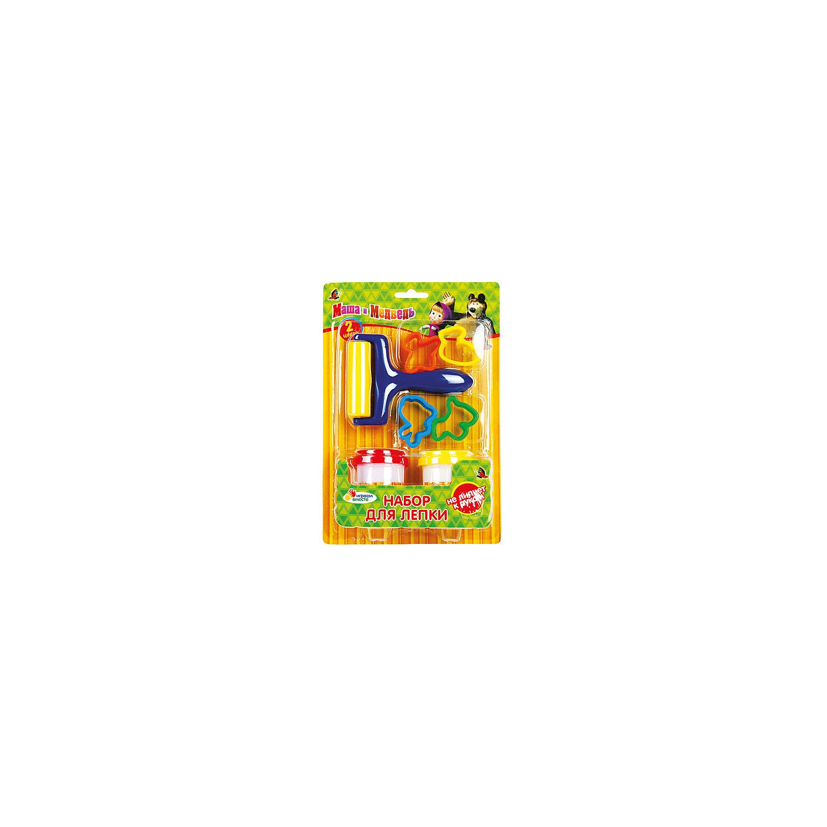 Набор для лепки, Маша и МедведьВ наборе для лепки Маша и Медведь есть все, что нужно для творчества ребенка: тесто, формочки, инструменты и, конечно же, любимые герои мультсериала. Тесто абсолютно безопасно, не липнет к рукам, цвета отлично смешиваются. Прекрасный выбор для развития творческого потенциала ребенка!<br>Дополнительная информация:<br>-в наборе: формочки, инструменты, 2 баночки с тестом<br>Сказочный персонаж : Маша и Медведь<br>-вес: 270 грамм<br>-размер упаковки: 17х25х6 см<br>Набор для лепки Маша и Медведь можно купить в нашем интернет-магазине.<br><br>Ширина мм: 60<br>Глубина мм: 250<br>Высота мм: 170<br>Вес г: 270<br>Возраст от месяцев: 36<br>Возраст до месяцев: 84<br>Пол: Женский<br>Возраст: Детский<br>SKU: 4915452