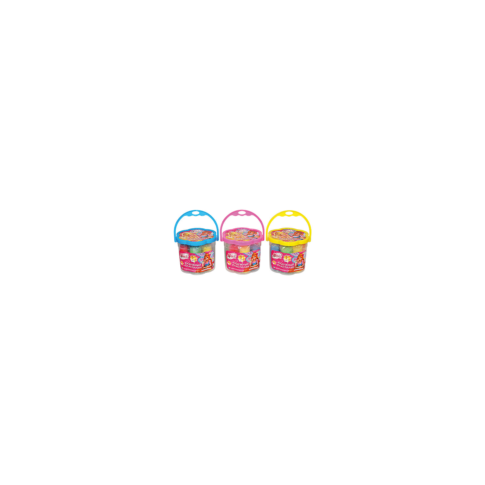 Пластилин в ведре, Winx Club, 7 цветовЛепка<br>В набор Winx Club входят пластилин 7 цветов и ведерко, в котором удобно хранить готовые работы или неиспользованный пластилин. Легко мнется. Не вызывает аллергии, развивает мелкую моторику, воображение и аккуратность. Прекрасный вариант для творчества с феями Винкс!<br>Дополнительная информация:<br>-в наборе: пластилин 7 цветов, ведерко<br>Сказочный персонаж: Winx Club<br>-вес: 650 грамм<br>-размер упаковки: 11х10х11 см<br>Пластилин Winx Club вы можете купить в нашем интернет-магазине.<br><br>Ширина мм: 110<br>Глубина мм: 100<br>Высота мм: 110<br>Вес г: 650<br>Возраст от месяцев: 36<br>Возраст до месяцев: 84<br>Пол: Женский<br>Возраст: Детский<br>SKU: 4915459