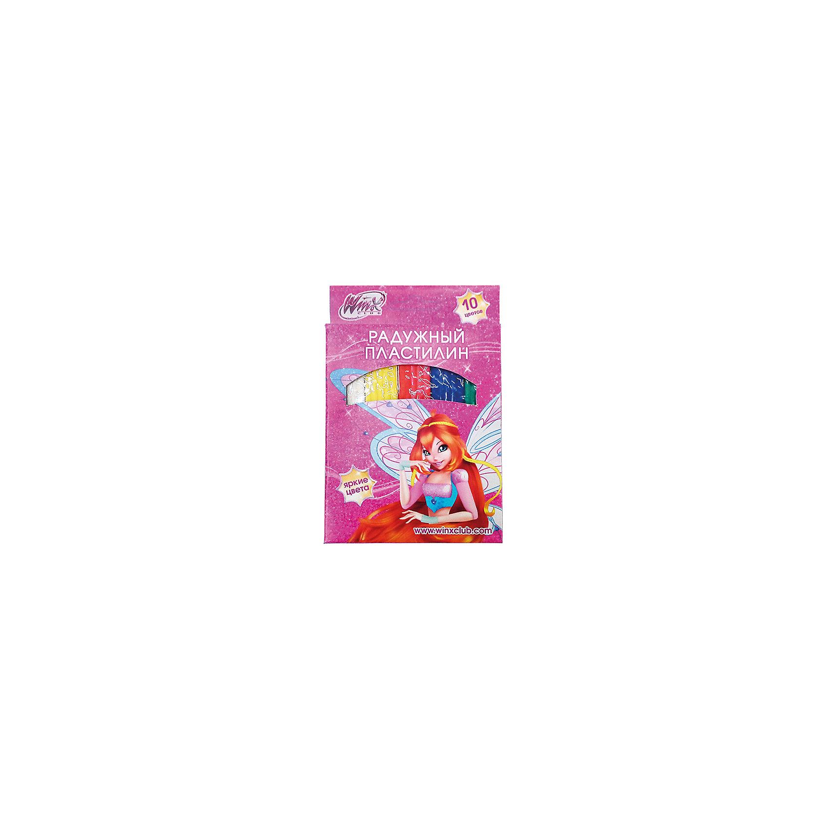 Пластилин, Winx Club, 10 цветовПластилин с героями мультсериала Winx поможет развить фантазию, усидчивость и мелкую моторику у ребенка. Не вызывает аллергии, хорошо мнется. Лепить с таким пластилином одно удовольствие!<br>Дополнительная информация:<br>-в наборе: восковый пластилин 10 цветов<br>Сказочный персонаж: Winx Club<br>-вес: 250 грамм<br>-размер упаковки: 11х17х2 см<br>Пластилин Winx Club можно приобрести в нашем интернет-магазине.<br><br>Ширина мм: 20<br>Глубина мм: 170<br>Высота мм: 110<br>Вес г: 250<br>Возраст от месяцев: 36<br>Возраст до месяцев: 84<br>Пол: Женский<br>Возраст: Детский<br>SKU: 4915461