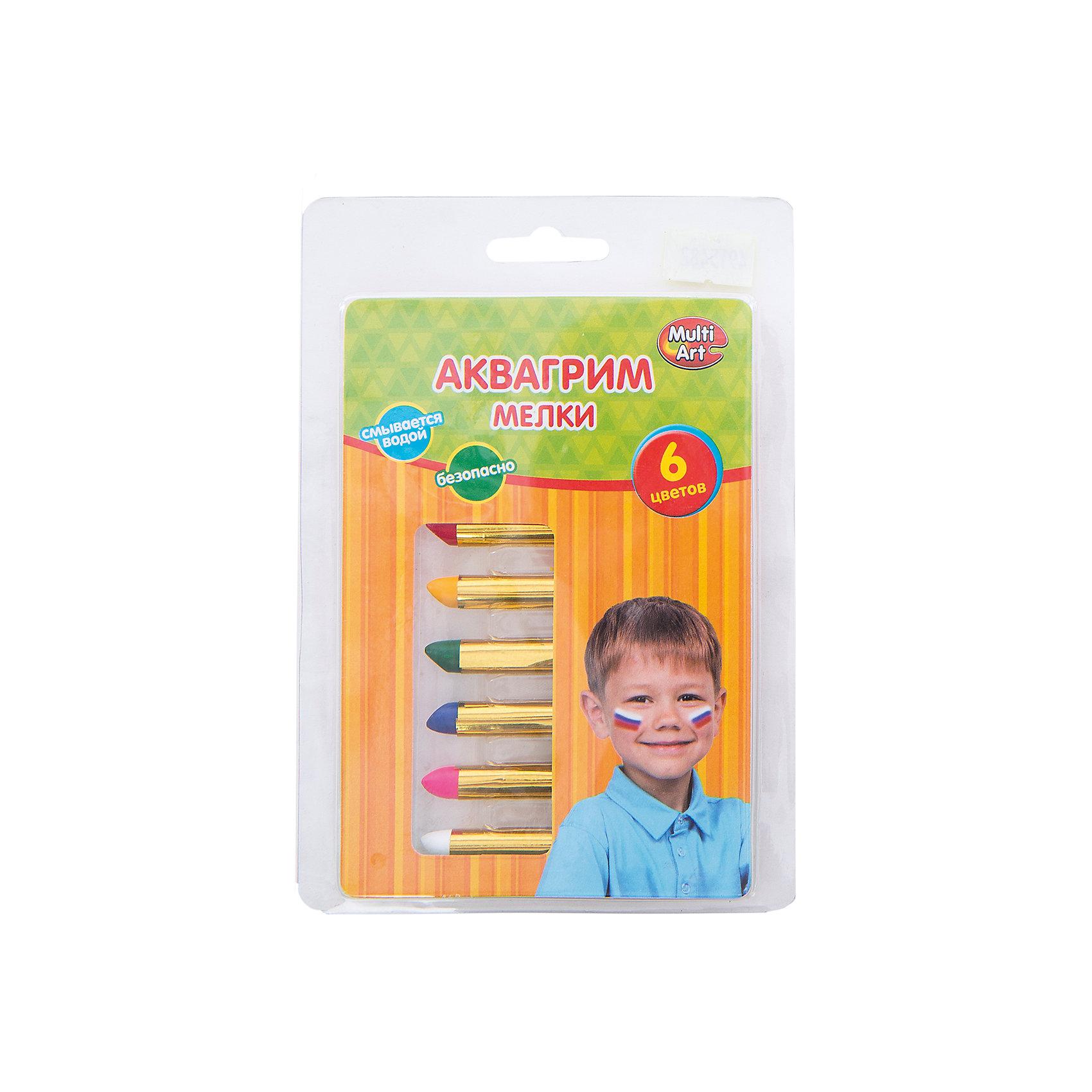 Мелки для аквагрима, 6 цветовНабор мелков для аквагрима поможет ребенку создать образ, максимально приближенный к героям любимого мультсериала Тачки. Мелки абсолютно безопасны для кожи, легко наносятся и смываются. Яркий грим отлично подойдет для хорошего настроения и фантазии ребенка!<br>Дополнительная информация:<br>-в наборе: 6 мелков(синий, розовый, белый, красный, желтый, зеленый)<br>-вес: 50 грамм<br>-размер упаковки: 17х11х2 см<br>Мелки для аквагрима  вы можете приобрести в нашем интернет-магазине.<br><br>Ширина мм: 20<br>Глубина мм: 110<br>Высота мм: 170<br>Вес г: 50<br>Возраст от месяцев: 36<br>Возраст до месяцев: 84<br>Пол: Унисекс<br>Возраст: Детский<br>SKU: 4915482