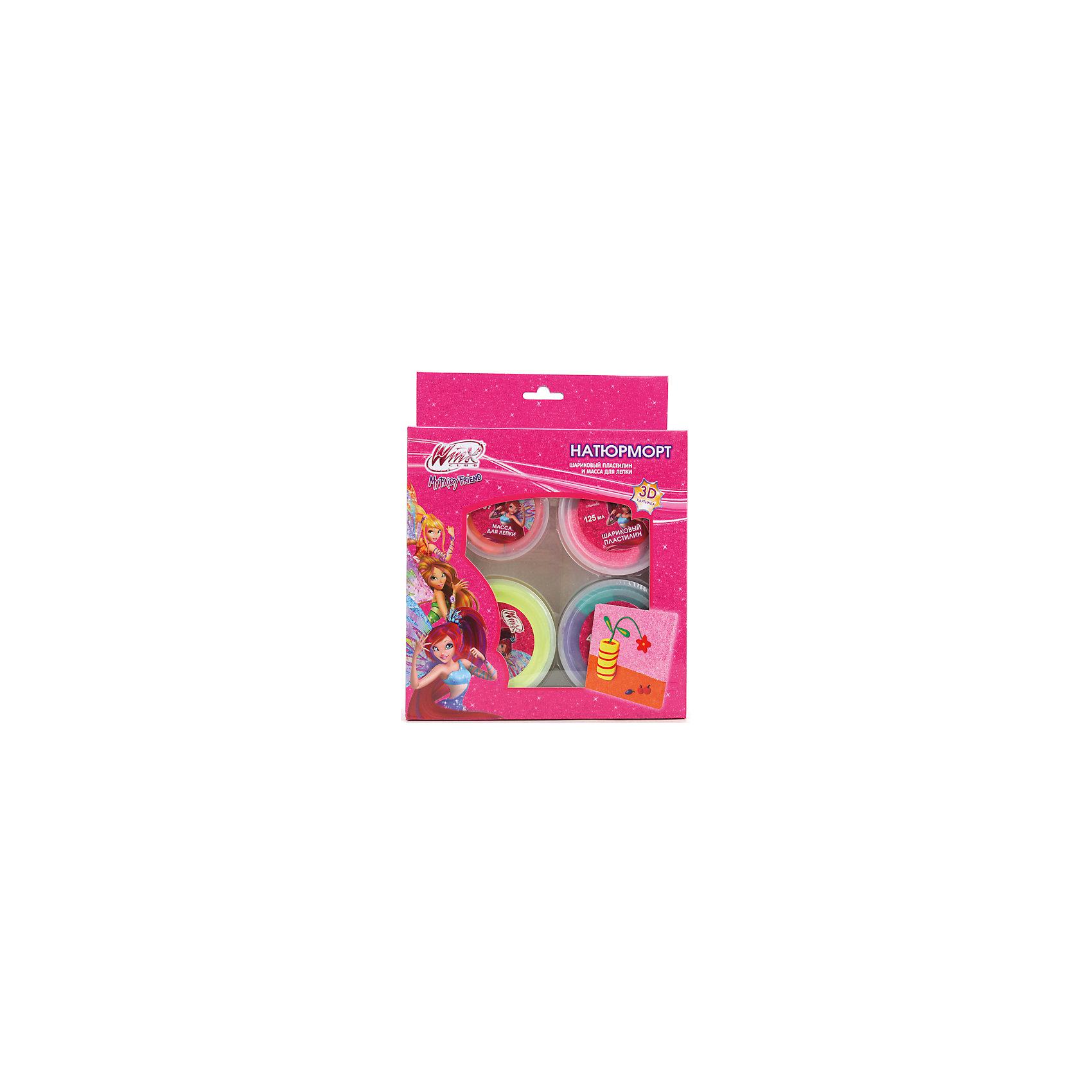 Играем вместе Набор для лепки картинки Натюрморт, Winx Club всё для лепки lori пластилин классика 16 цветов