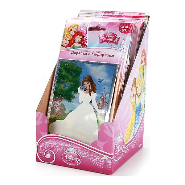 Набор Царапка с сюрпризом, Принцессы ДиснейГравюры для детей<br>Потрясающий набор Царапка с сюрпризом с принцессами Дисней непременно понравится девочке. Создать яркую картинку можно с помощью специальной палочки. Готовую работу приятно будет повесить в детской комнате или оставить в подарок близкому человеку.<br>Дополнительная информация:<br>-в наборе: картинка-основа, специальная ручка<br>Сказочный персонаж: Принцессы Дисней<br>-вес: 40 грамм<br>-размер упаковки: 12х14х22 см<br>Набор Царапка с сюрпризом вы можете приобрести в нашем интернет-магазине.<br><br>Ширина мм: 220<br>Глубина мм: 140<br>Высота мм: 120<br>Вес г: 40<br>Возраст от месяцев: 60<br>Возраст до месяцев: 108<br>Пол: Женский<br>Возраст: Детский<br>SKU: 4915517